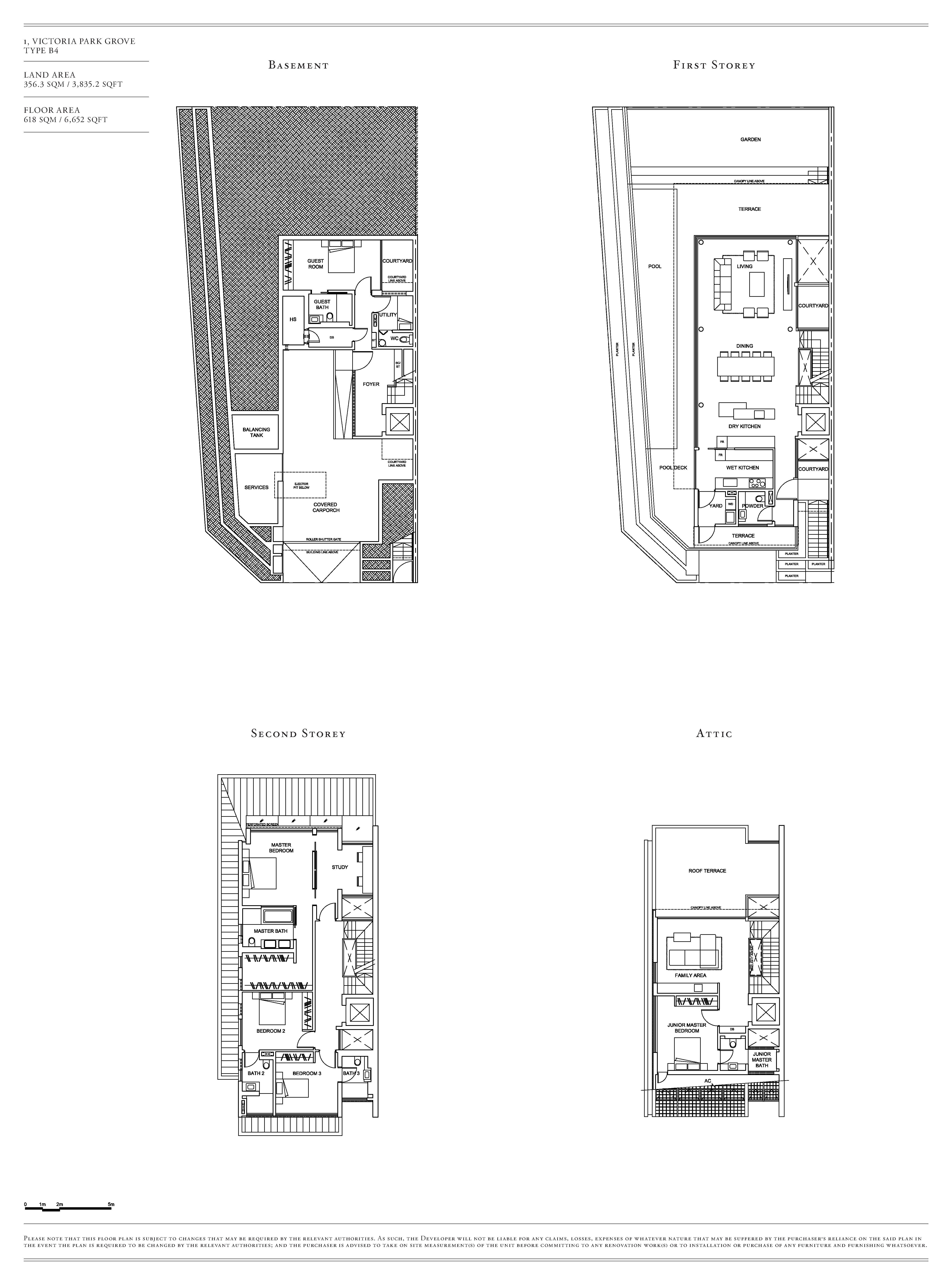 Victoria Park Villas House 1 Type B4 Floor Plans
