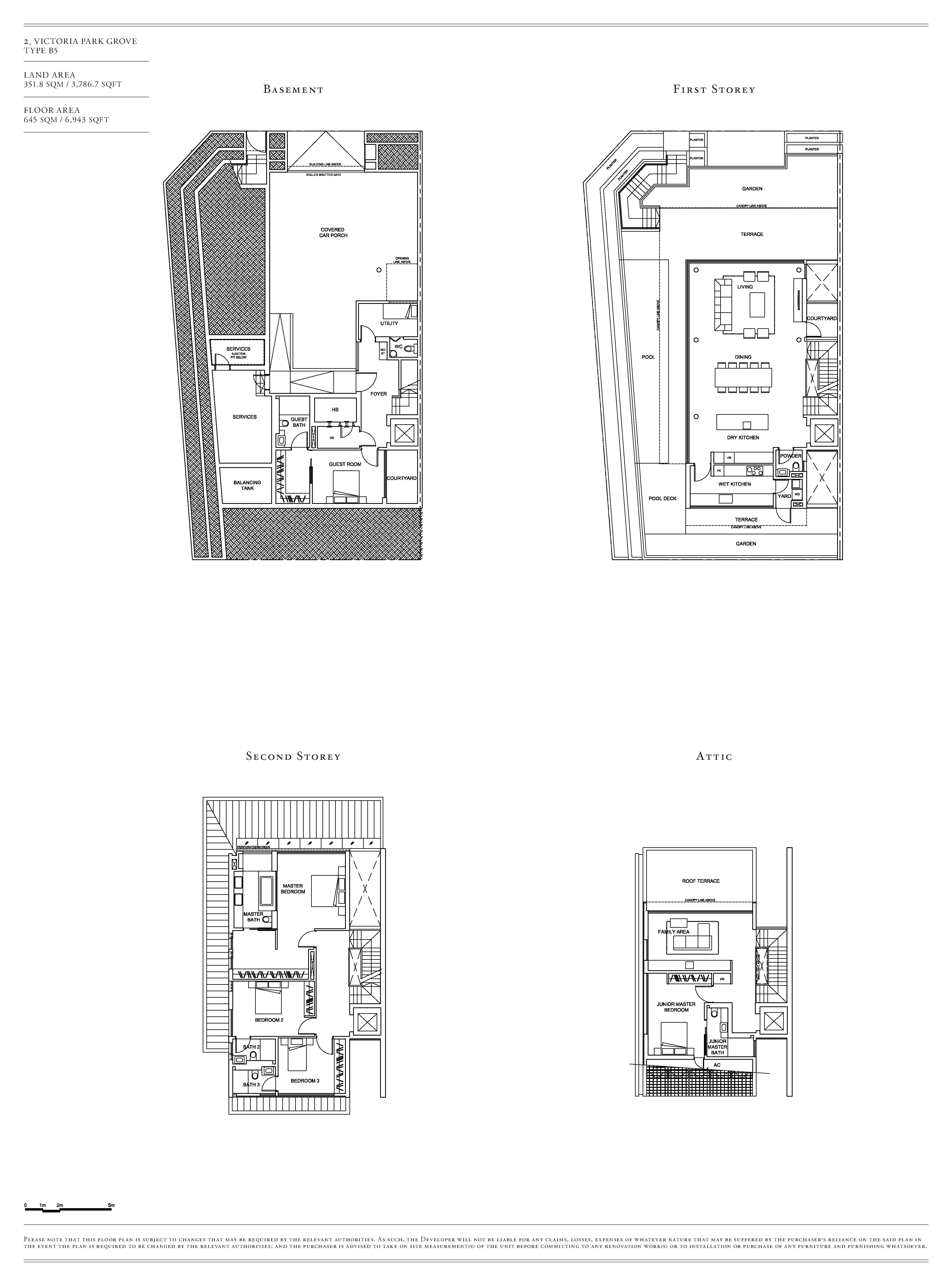 Victoria Park Villas House 2 Type B5 Floor Plans