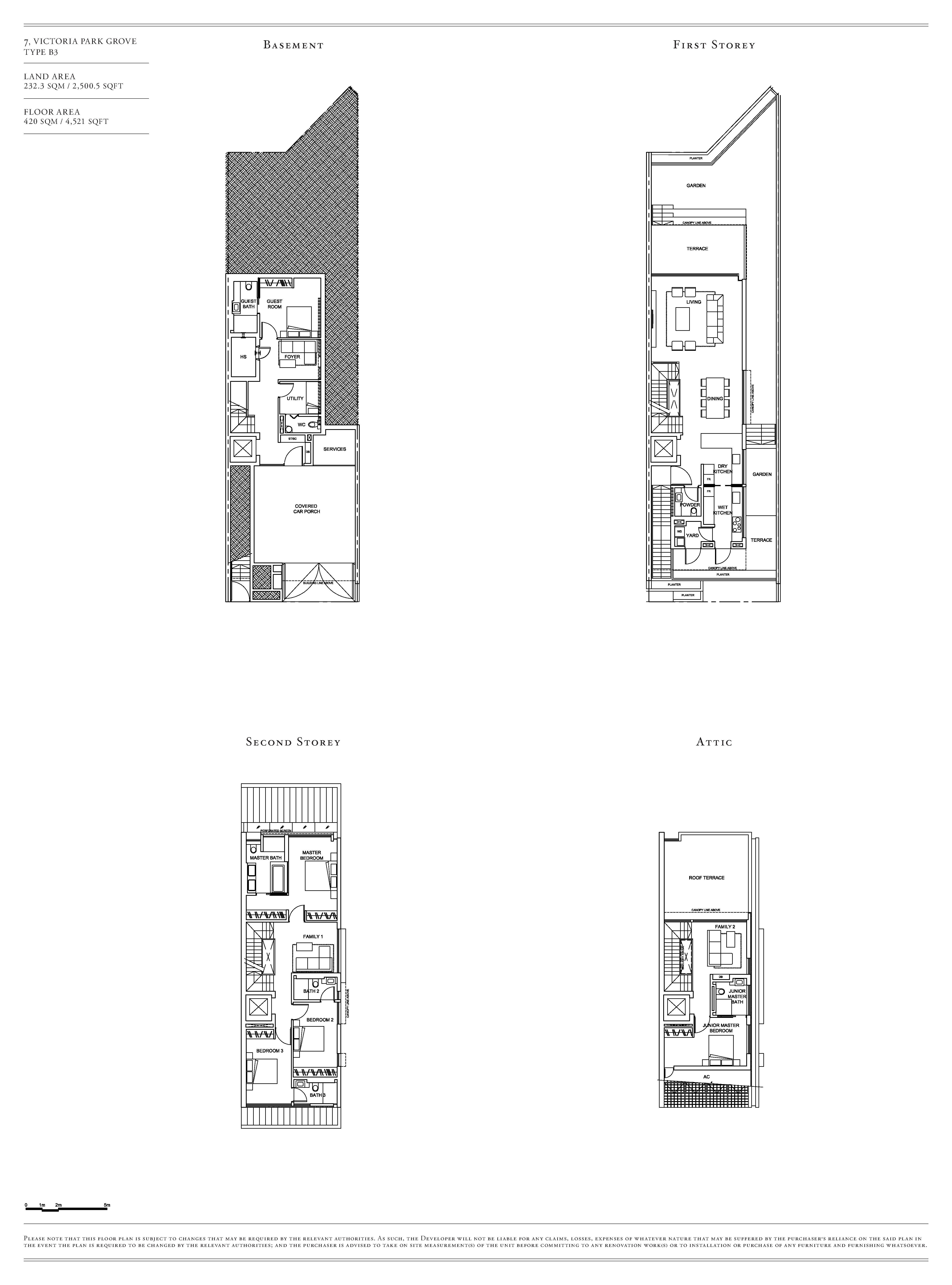 Victoria Park Villas House 7 Type B3 Floor Plans
