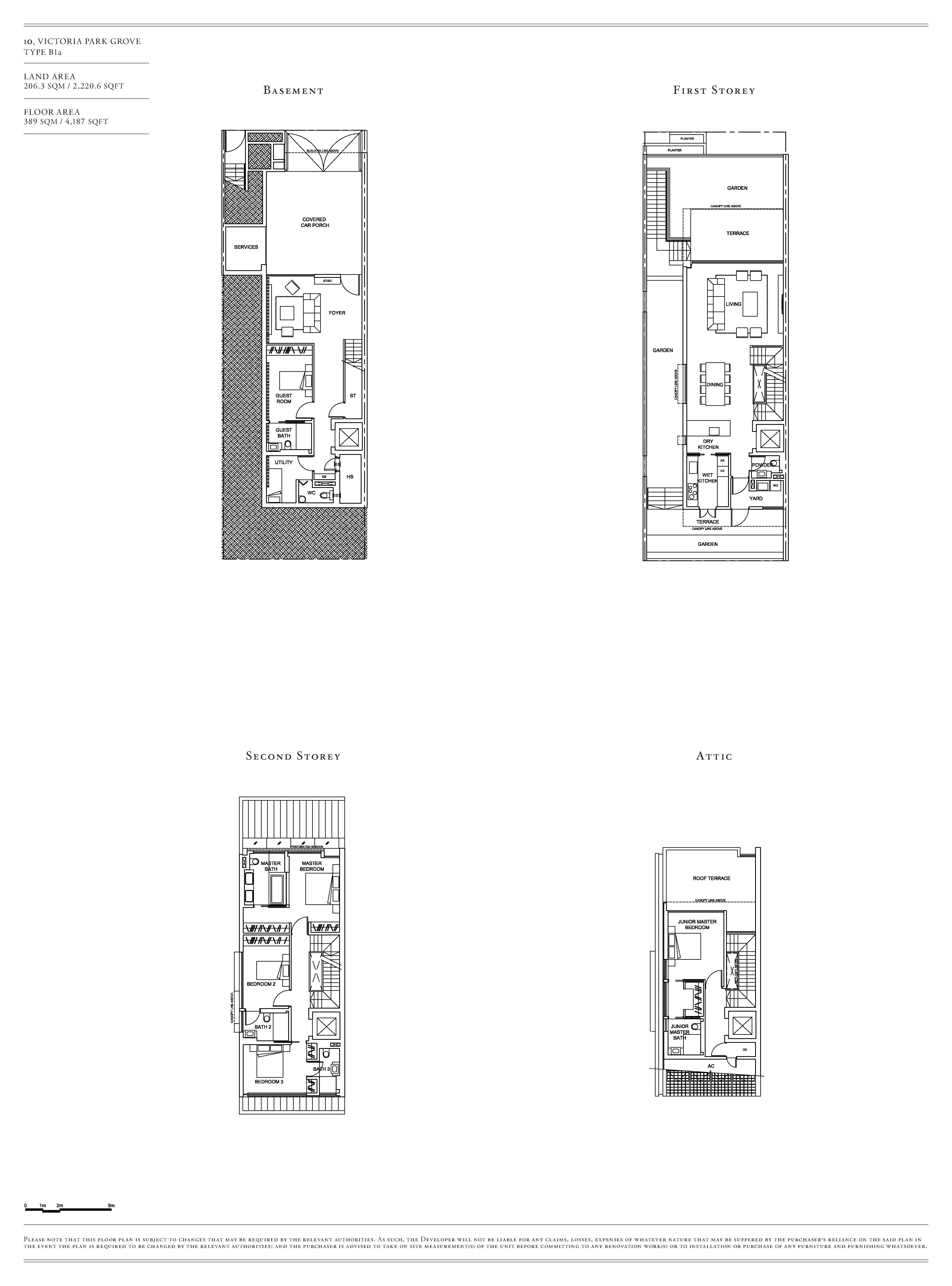 Victoria Park Villas House 10 Type B1a Floor Plans