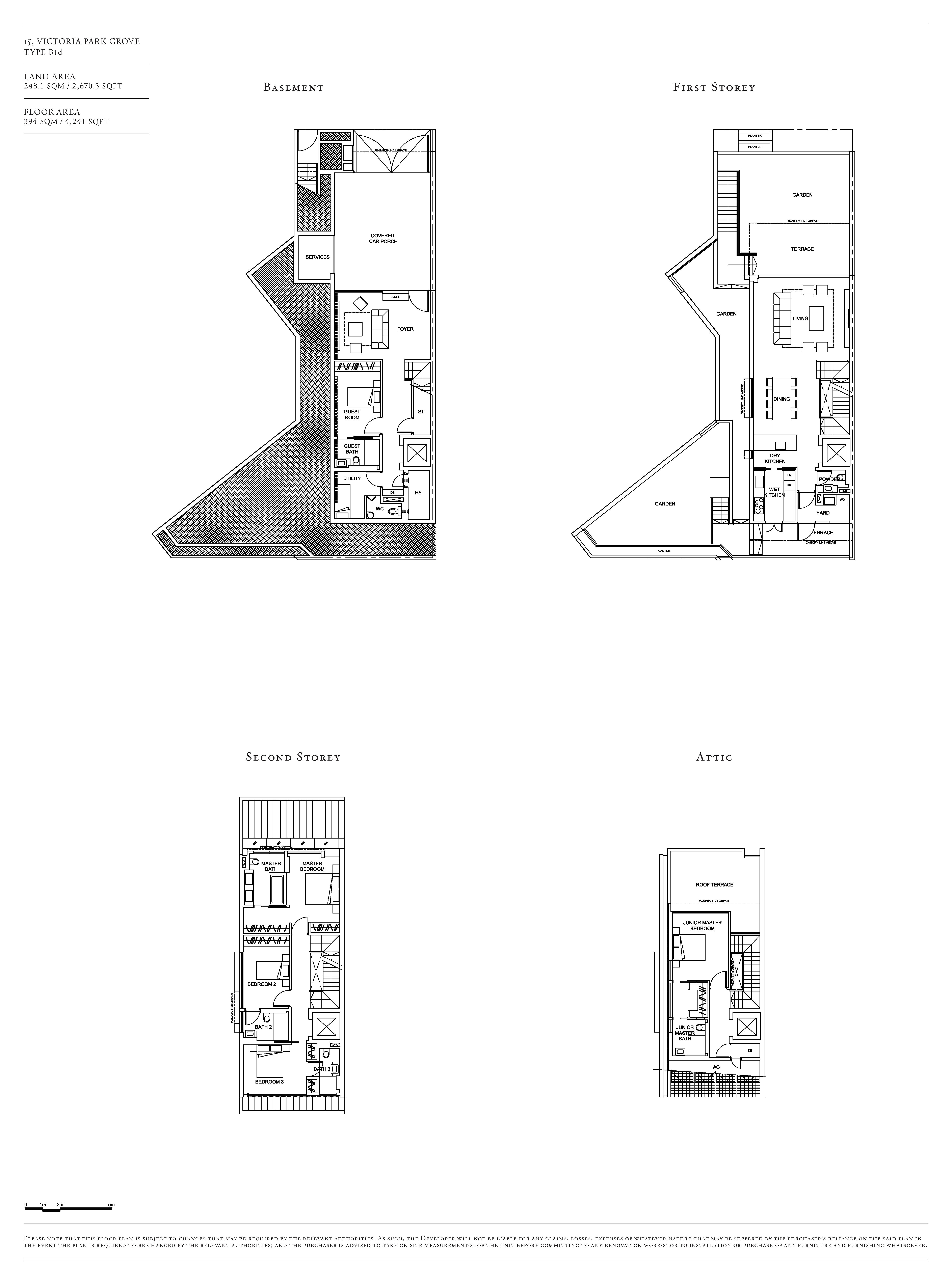 Victoria Park Villas House 15 Type B1d Floor Plans