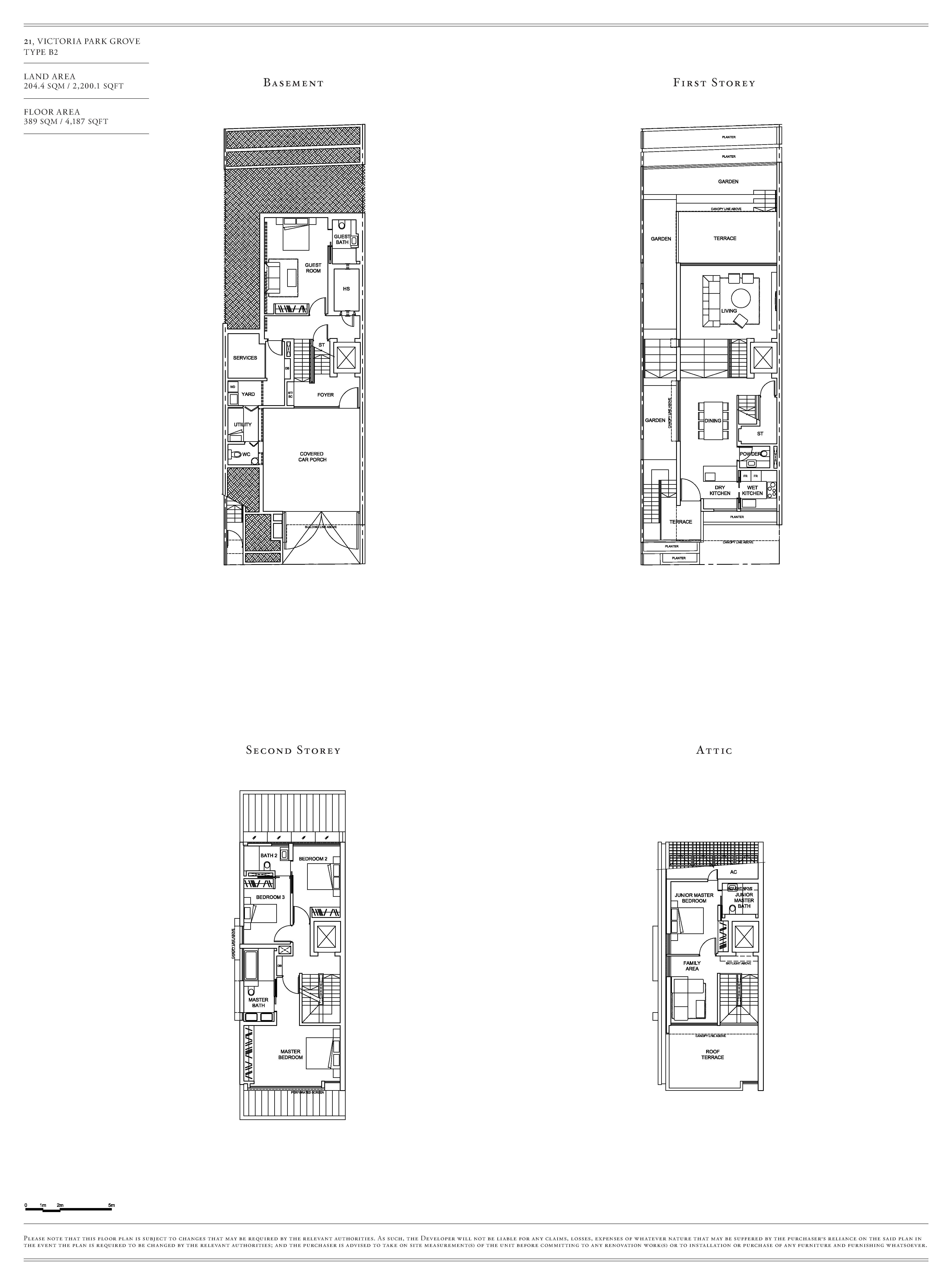 Victoria Park Villas House 21 Type B2 Floor Plans