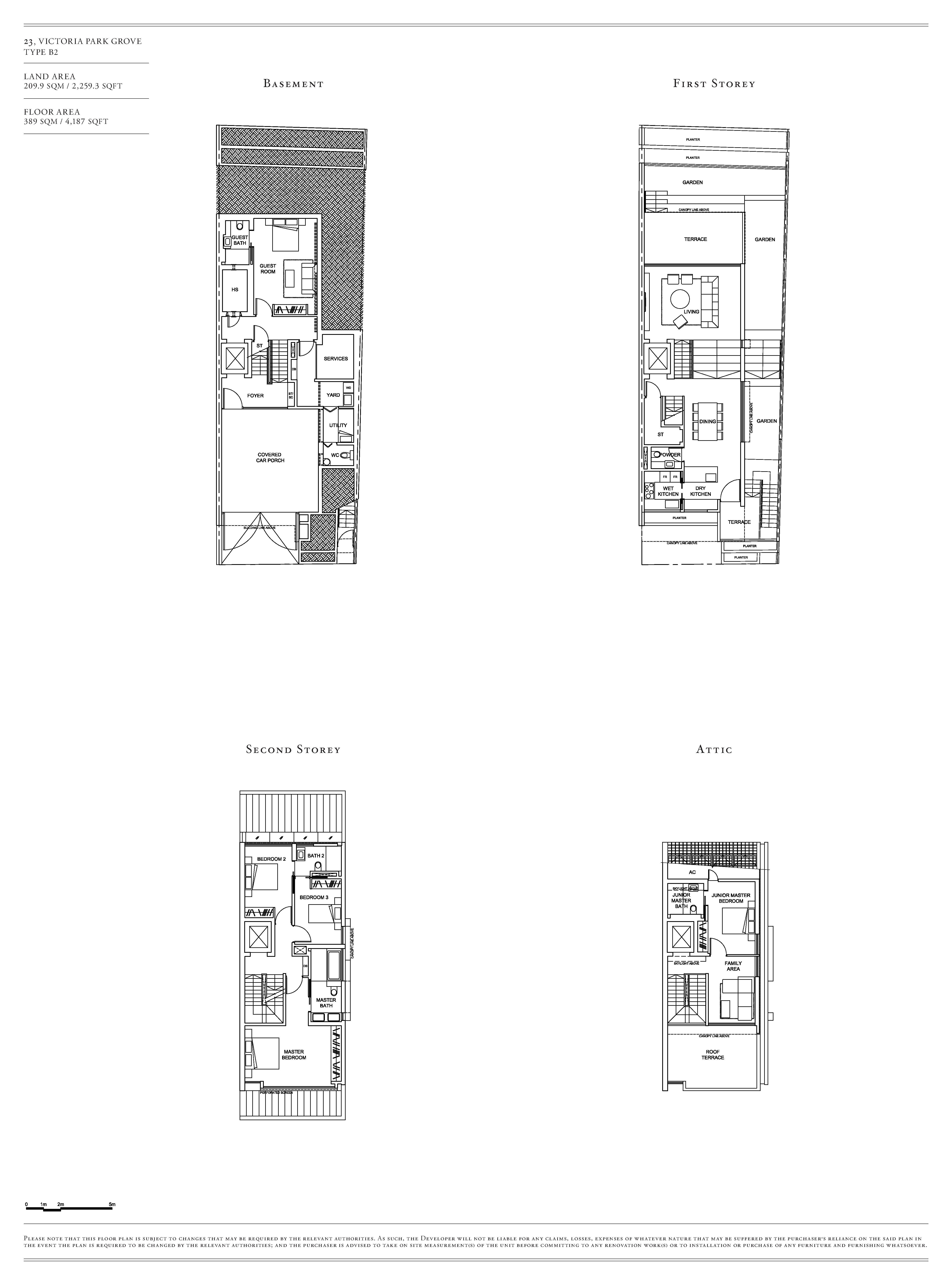 Victoria Park Villas House 23 Type B2 Floor Plans