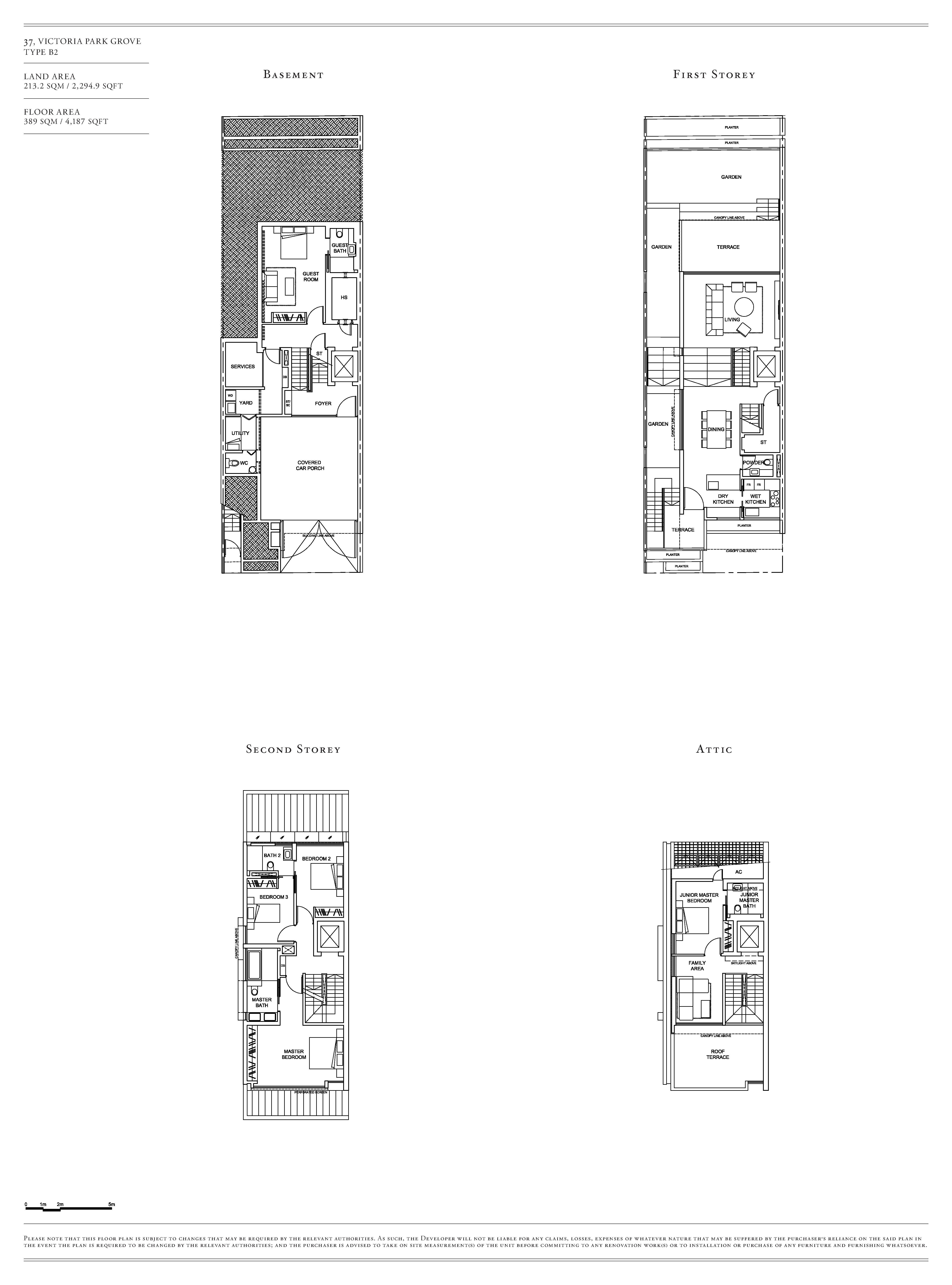 Victoria Park Villas House 37 Type B2 Floor Plans
