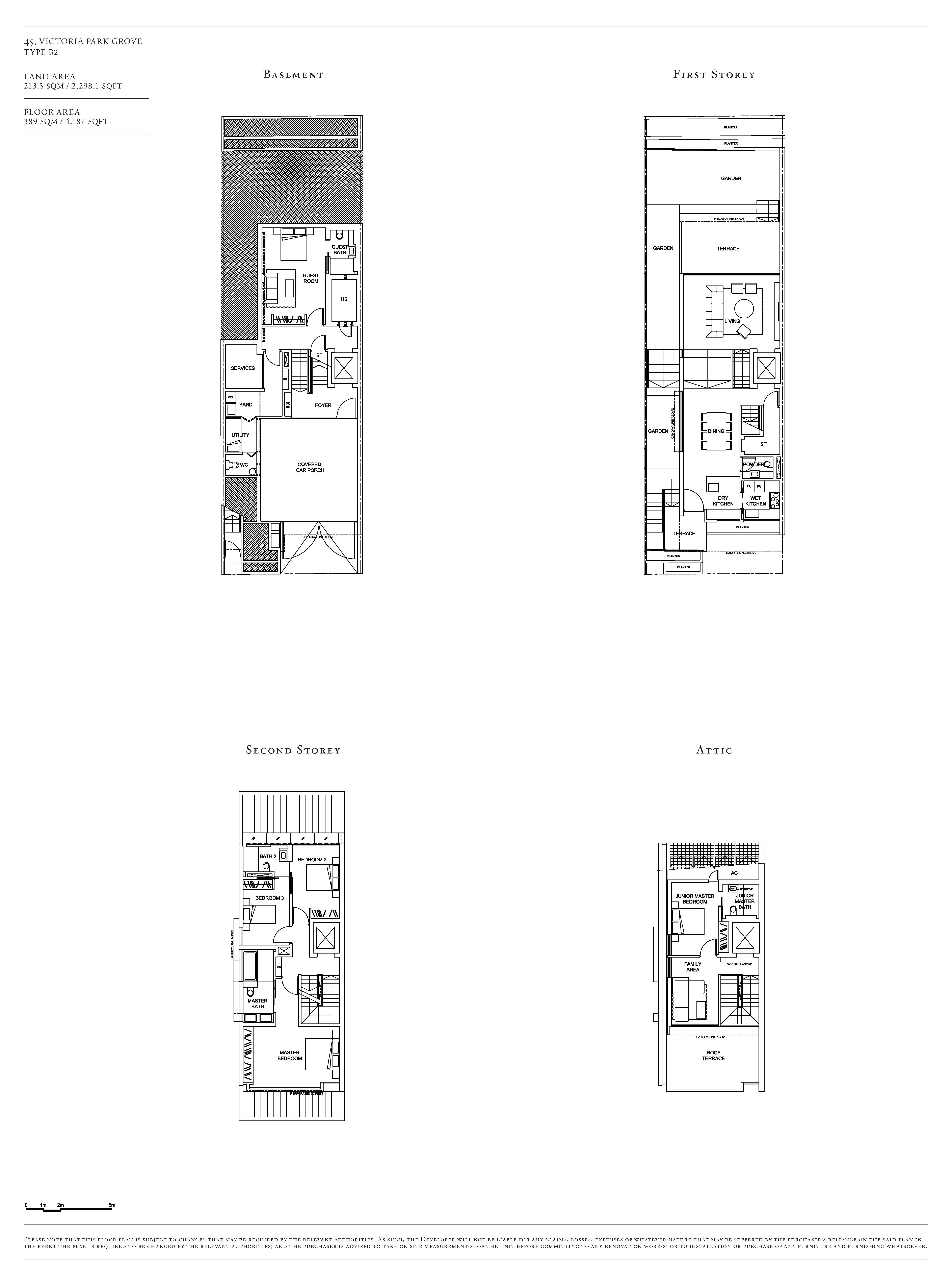 Victoria Park Villas House 45 Type B2 Floor Plans