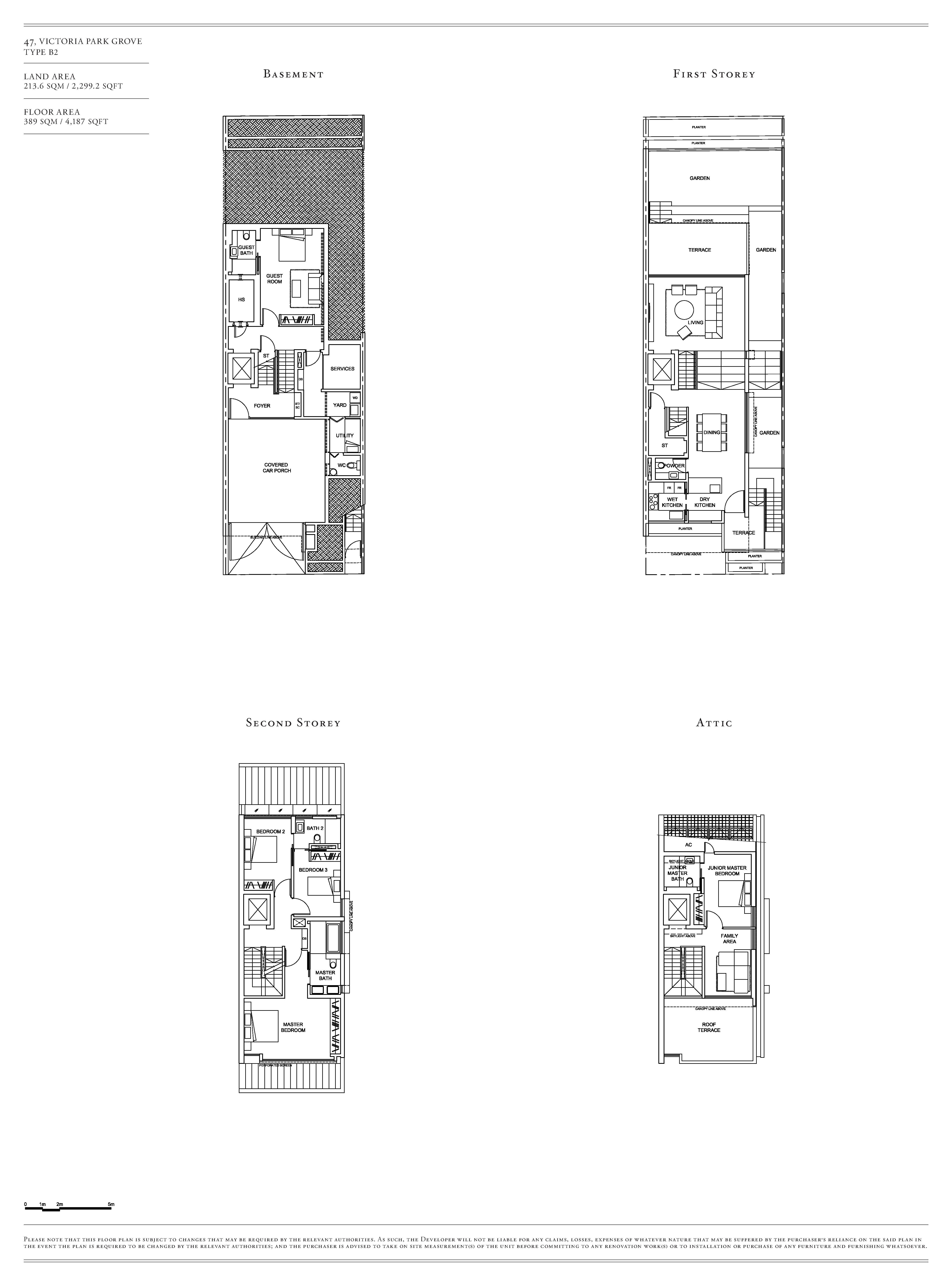 Victoria Park Villas House 47 Type B2 Floor Plans