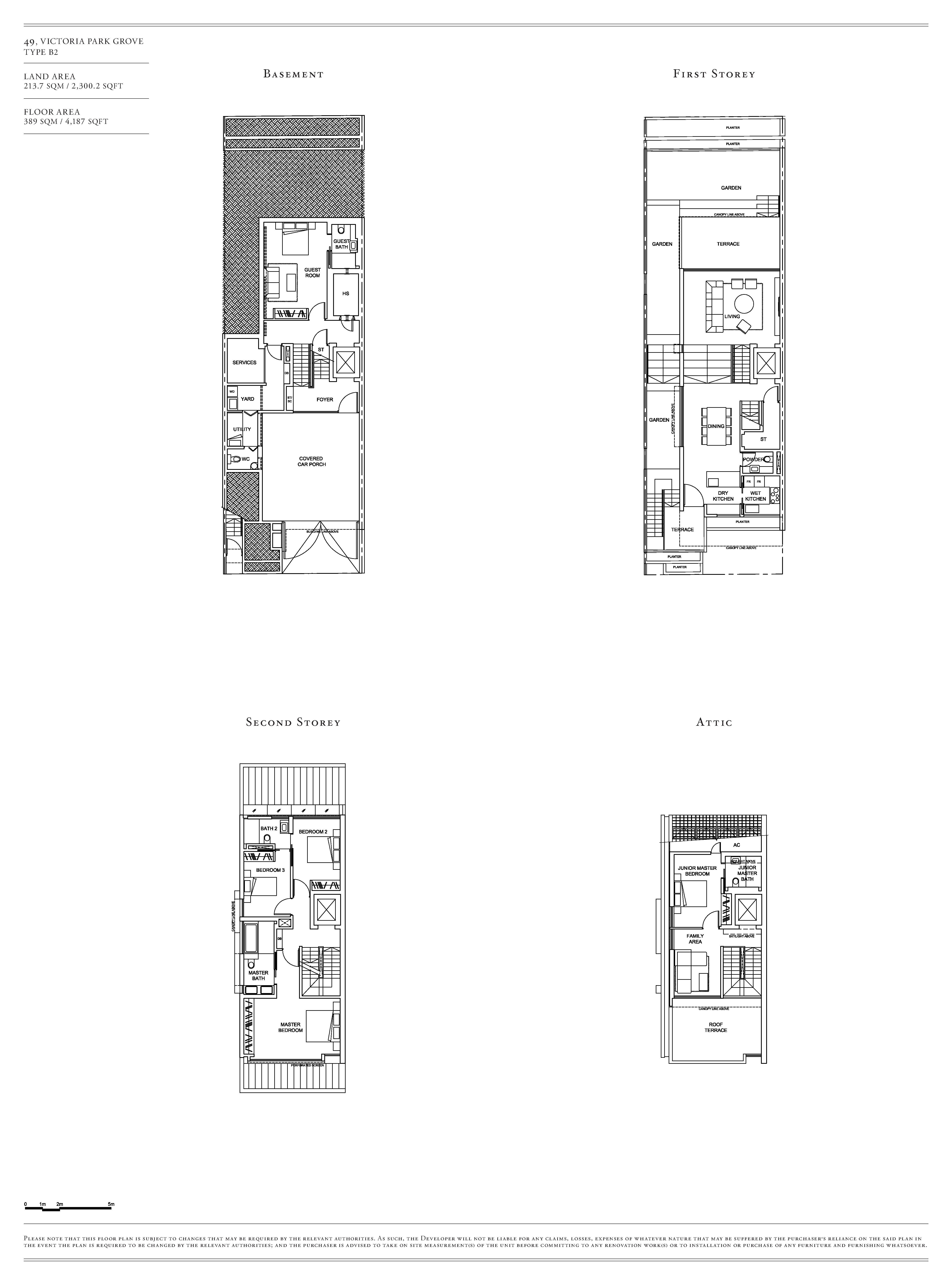 Victoria Park Villas House 49 Type B2 Floor Plans