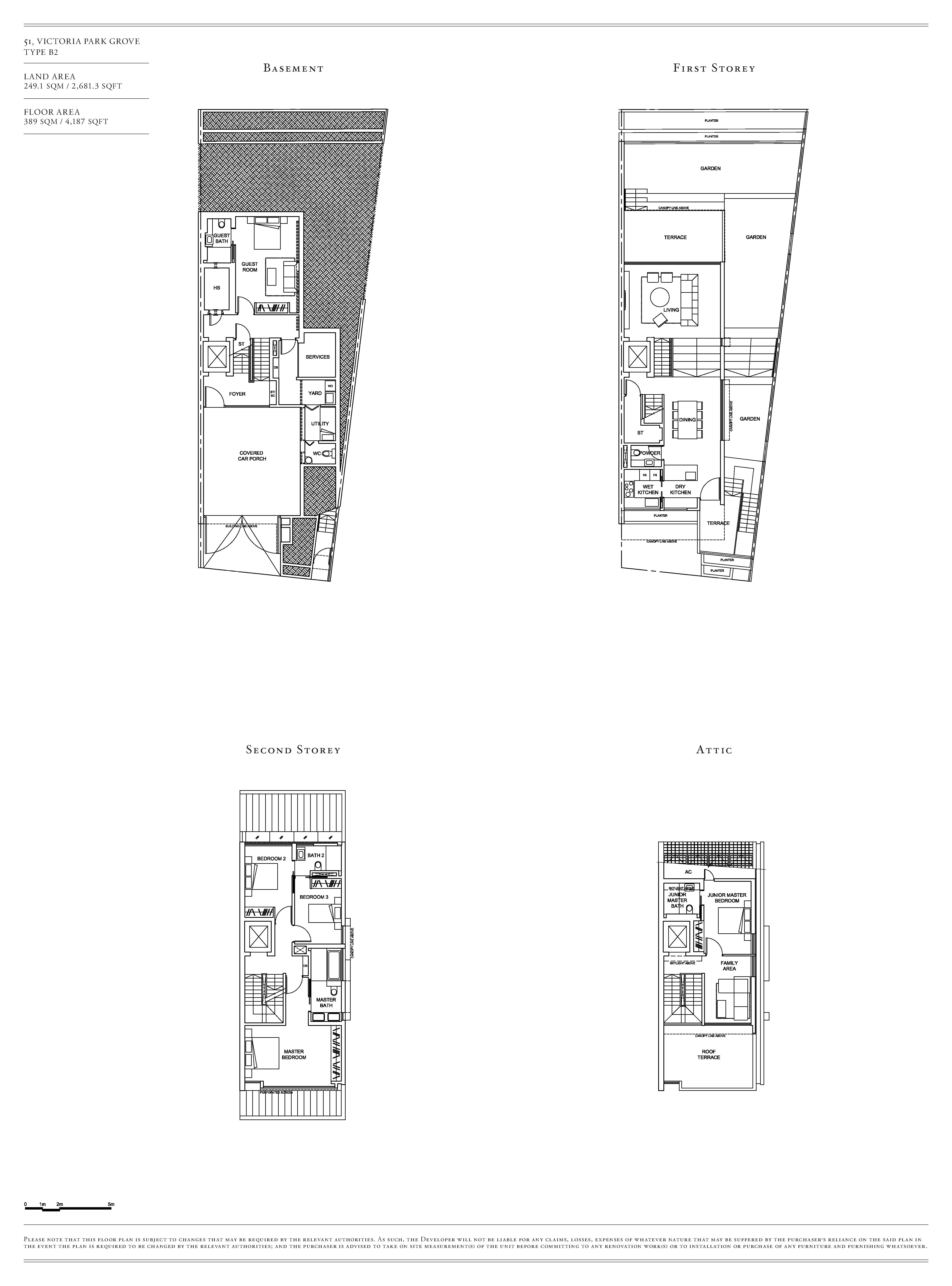 Victoria Park Villas House 51 Type B2 Floor Plans