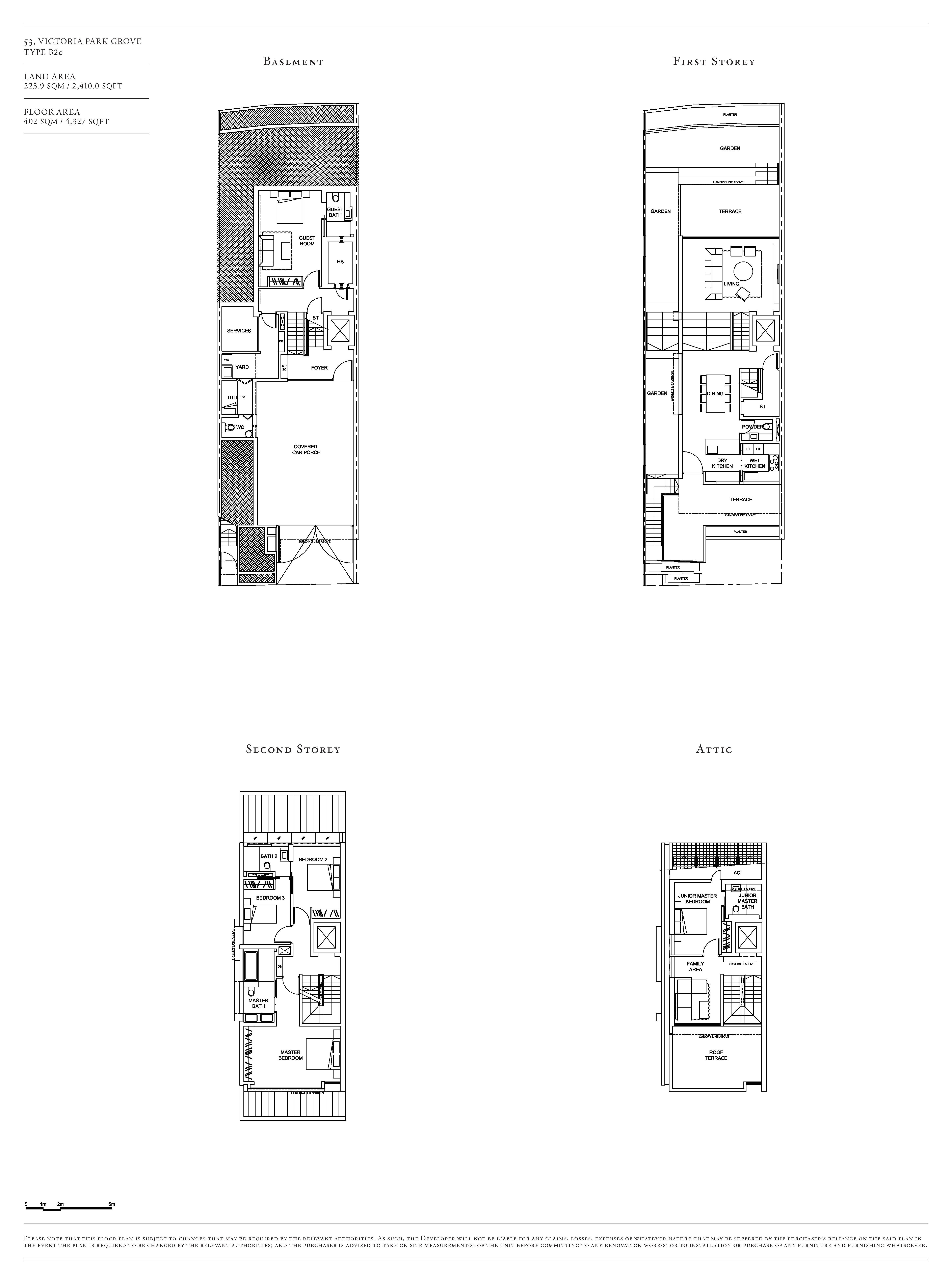 Victoria Park Villas House 53 Type B2c Floor Plans