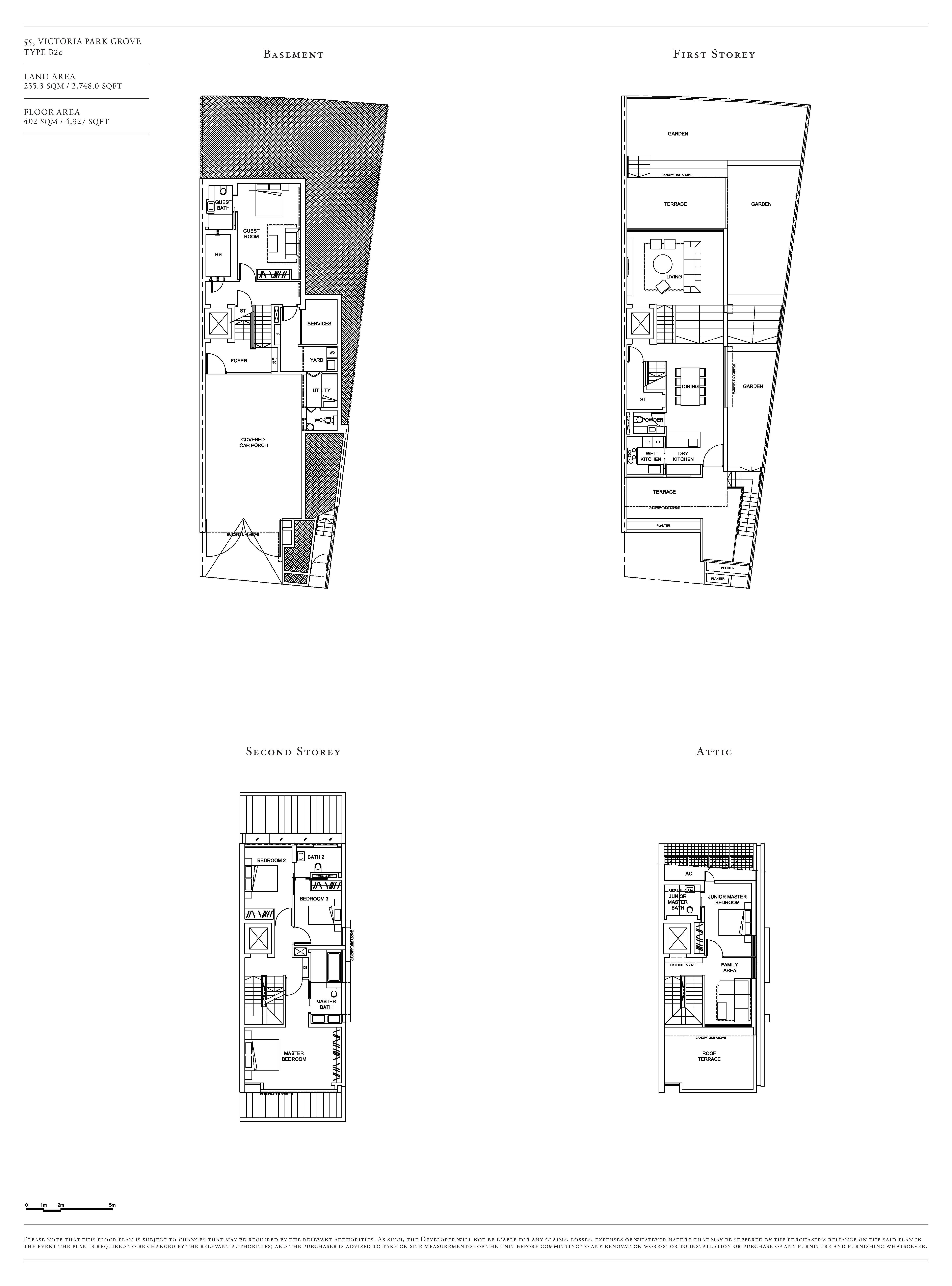 Victoria Park Villas House 55 Type B2c Floor Plans