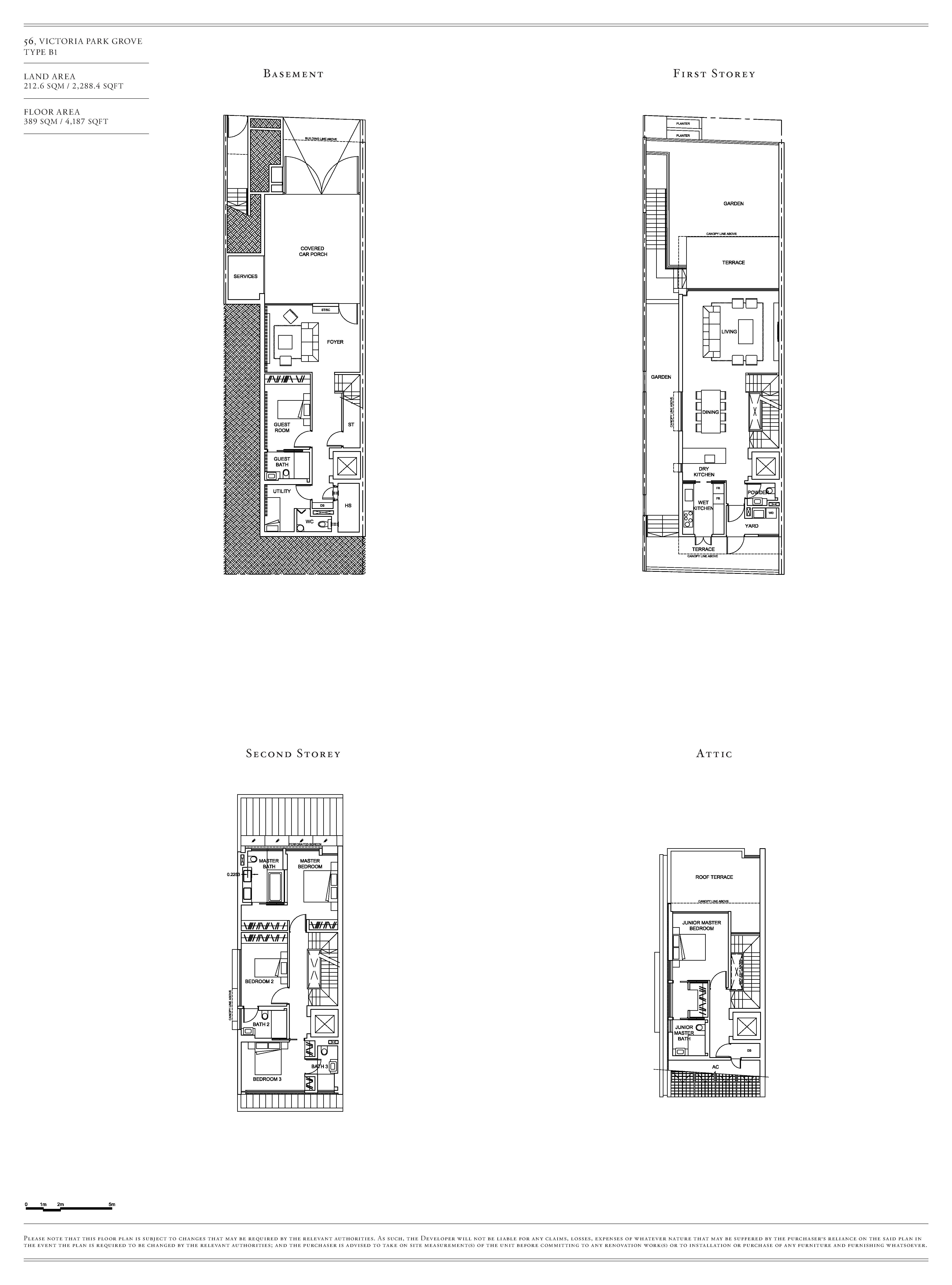 Victoria Park Villas House 56 Type B1 Floor Plans