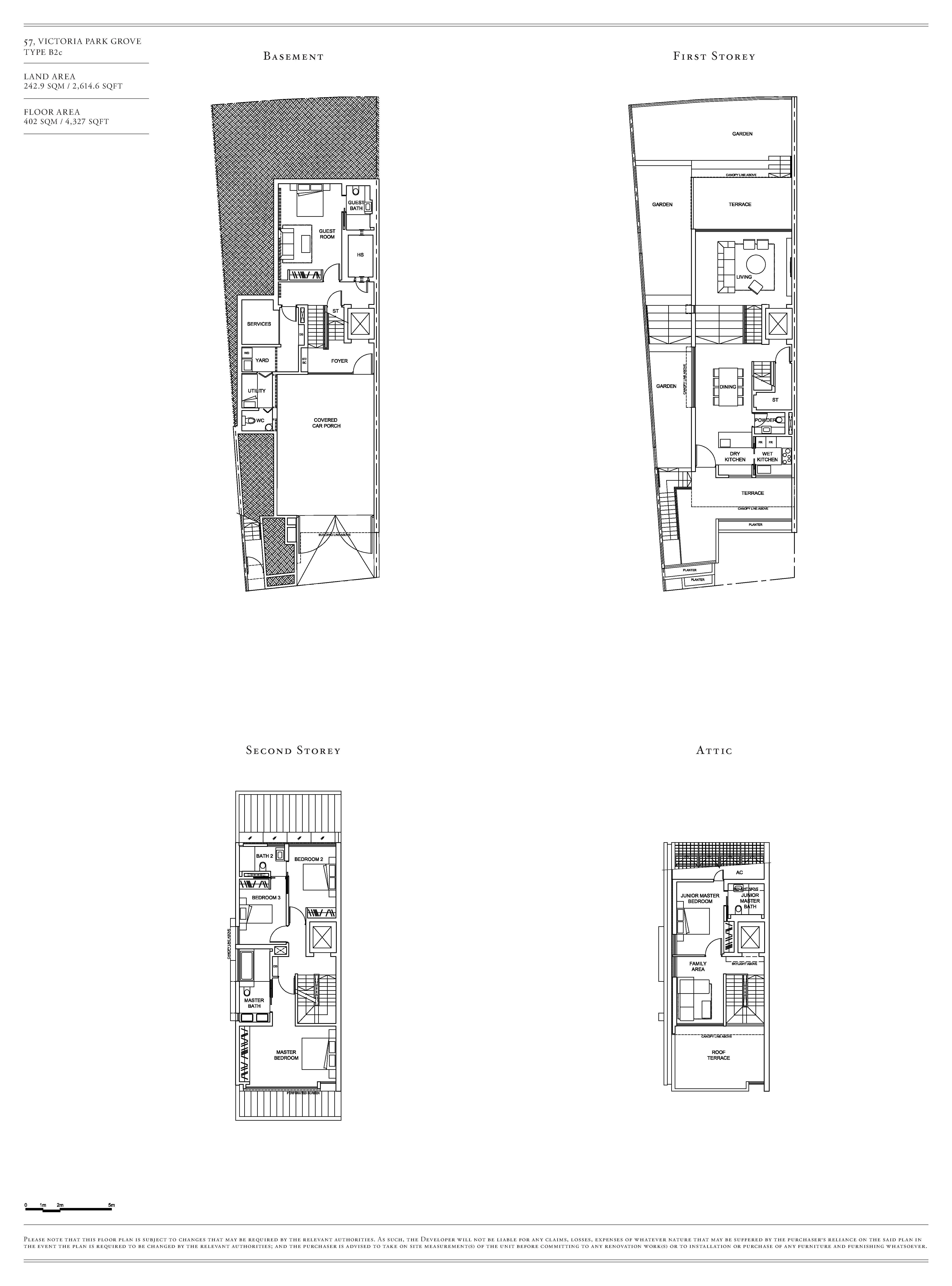 Victoria Park Villas House 57 Type B2c Floor Plans
