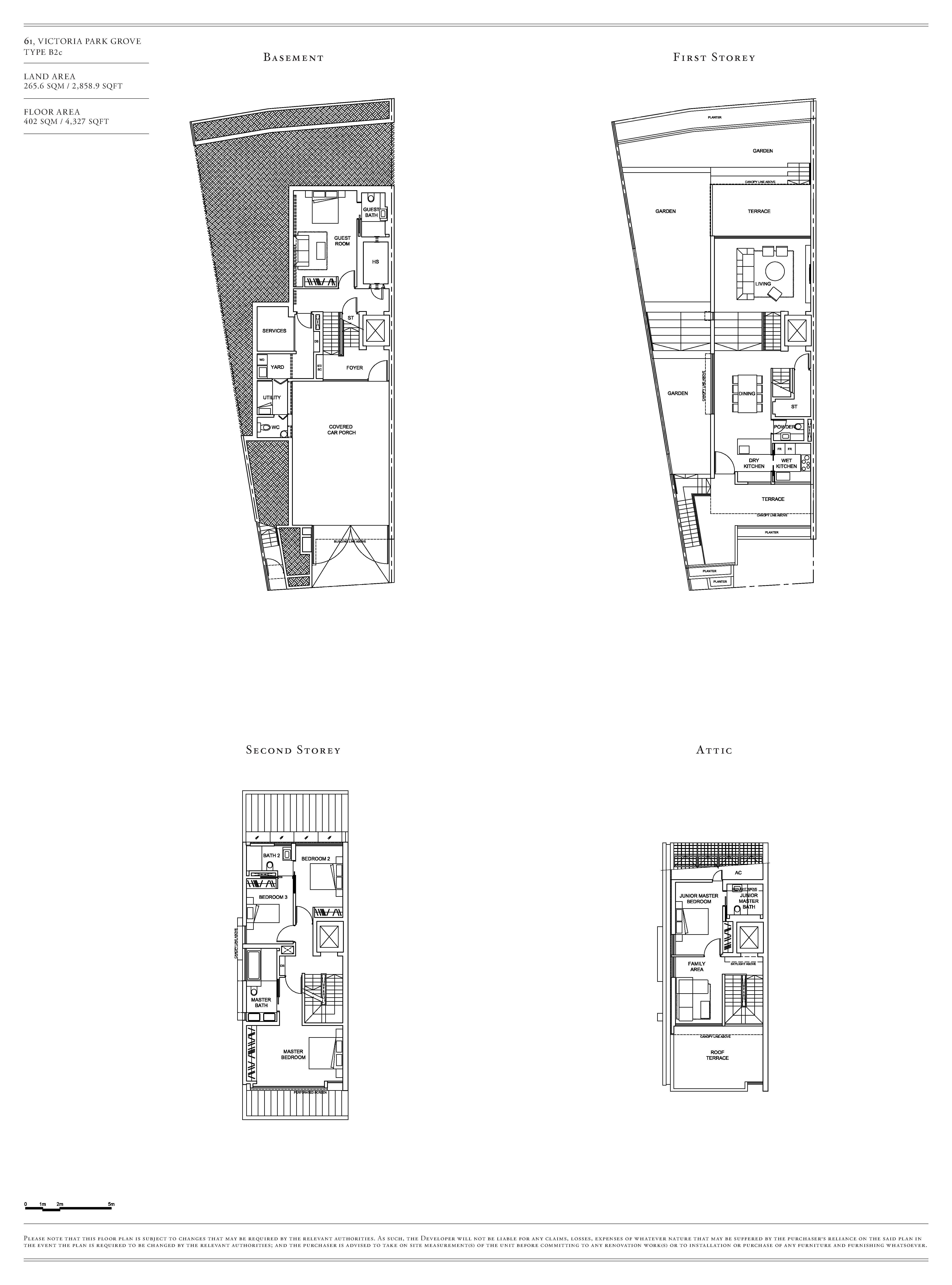 Victoria Park Villas House 61 Type B2c Floor Plans