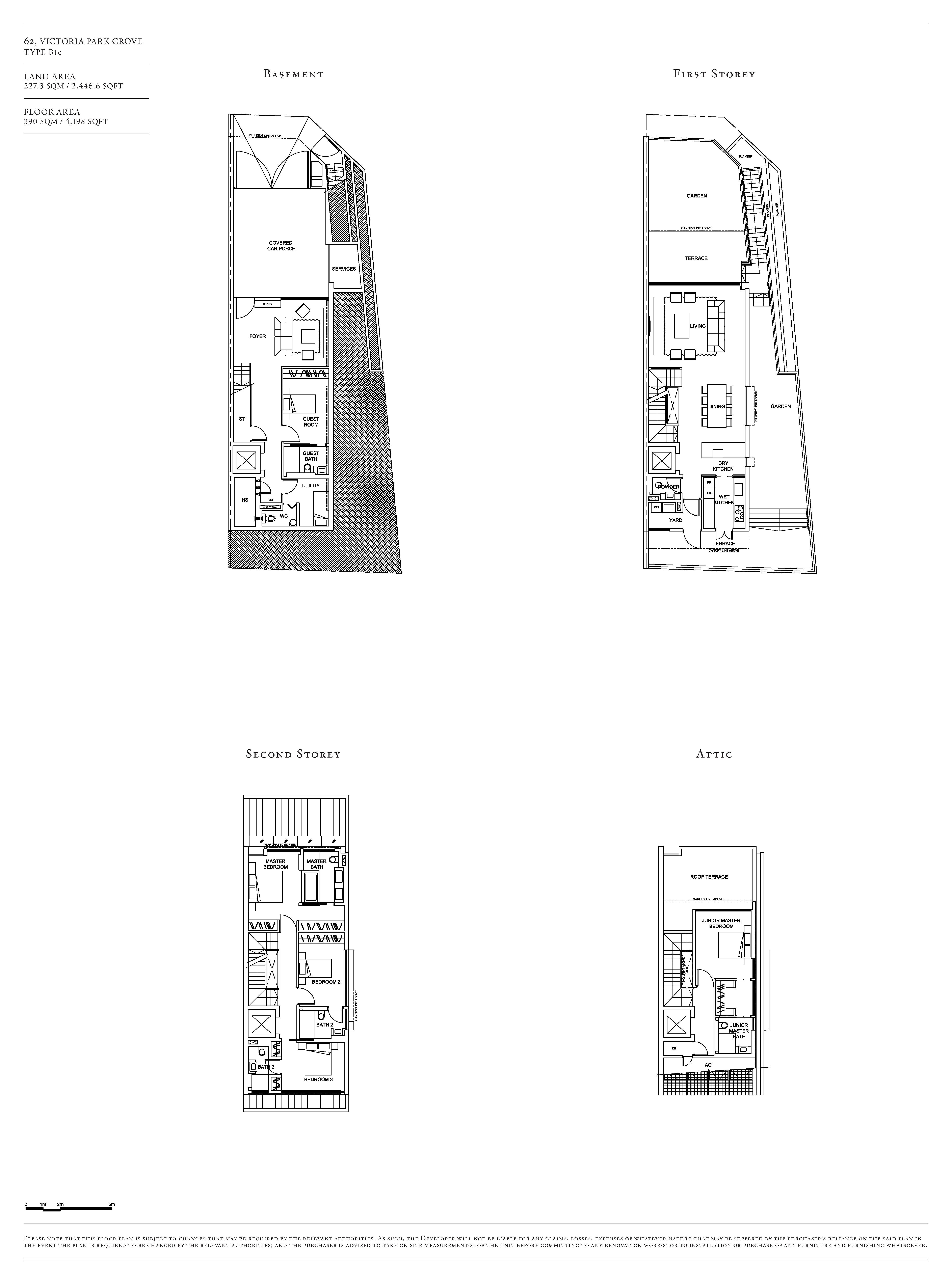 Victoria Park Villas House 62 Type B1c Floor Plans