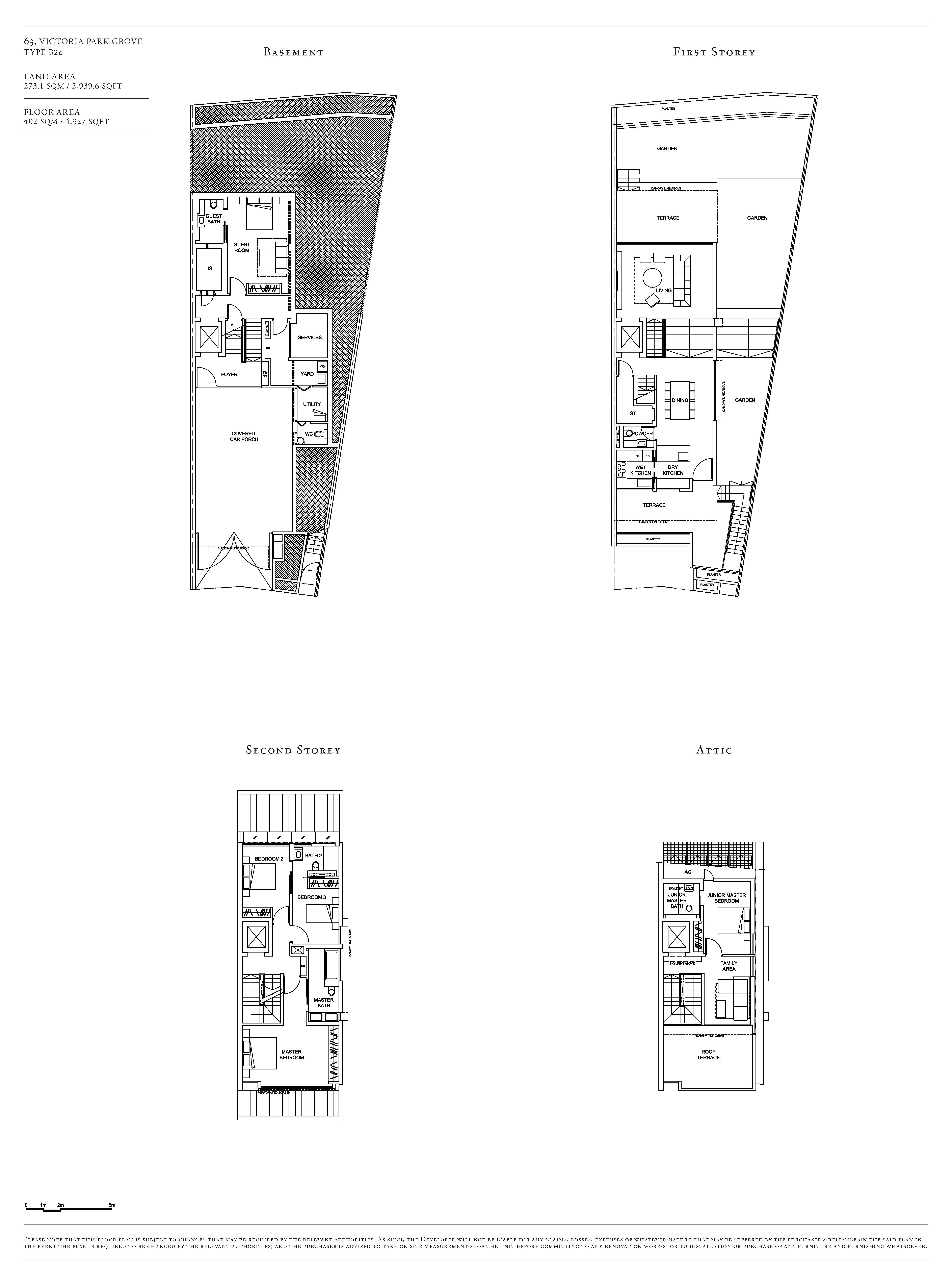 Victoria Park Villas House 63 Type B2c Floor Plans