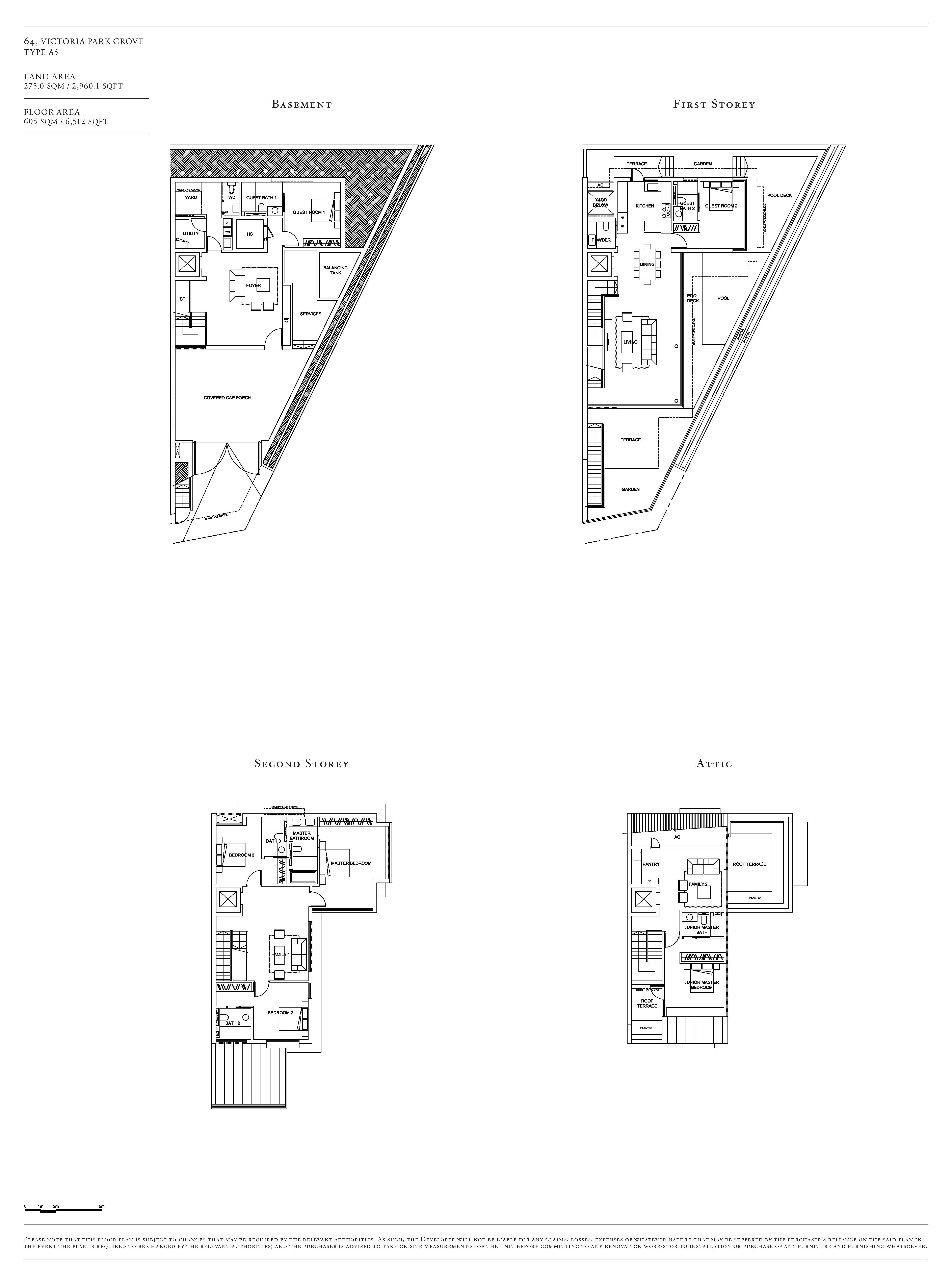 Victoria Park Villas House 64 Type A5 Floor Plans