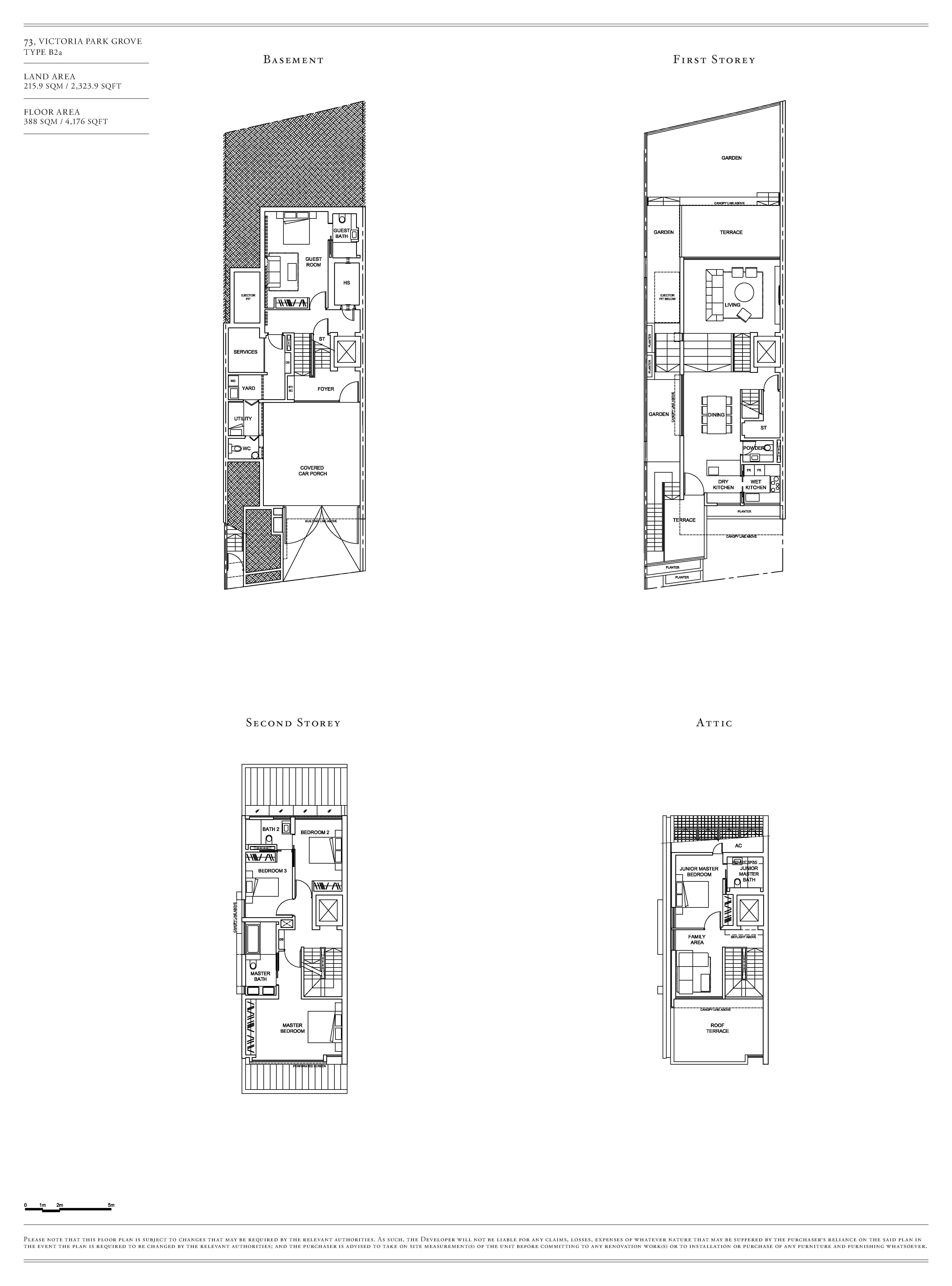 Victoria Park Villas House 73 Type B2a Floor Plans