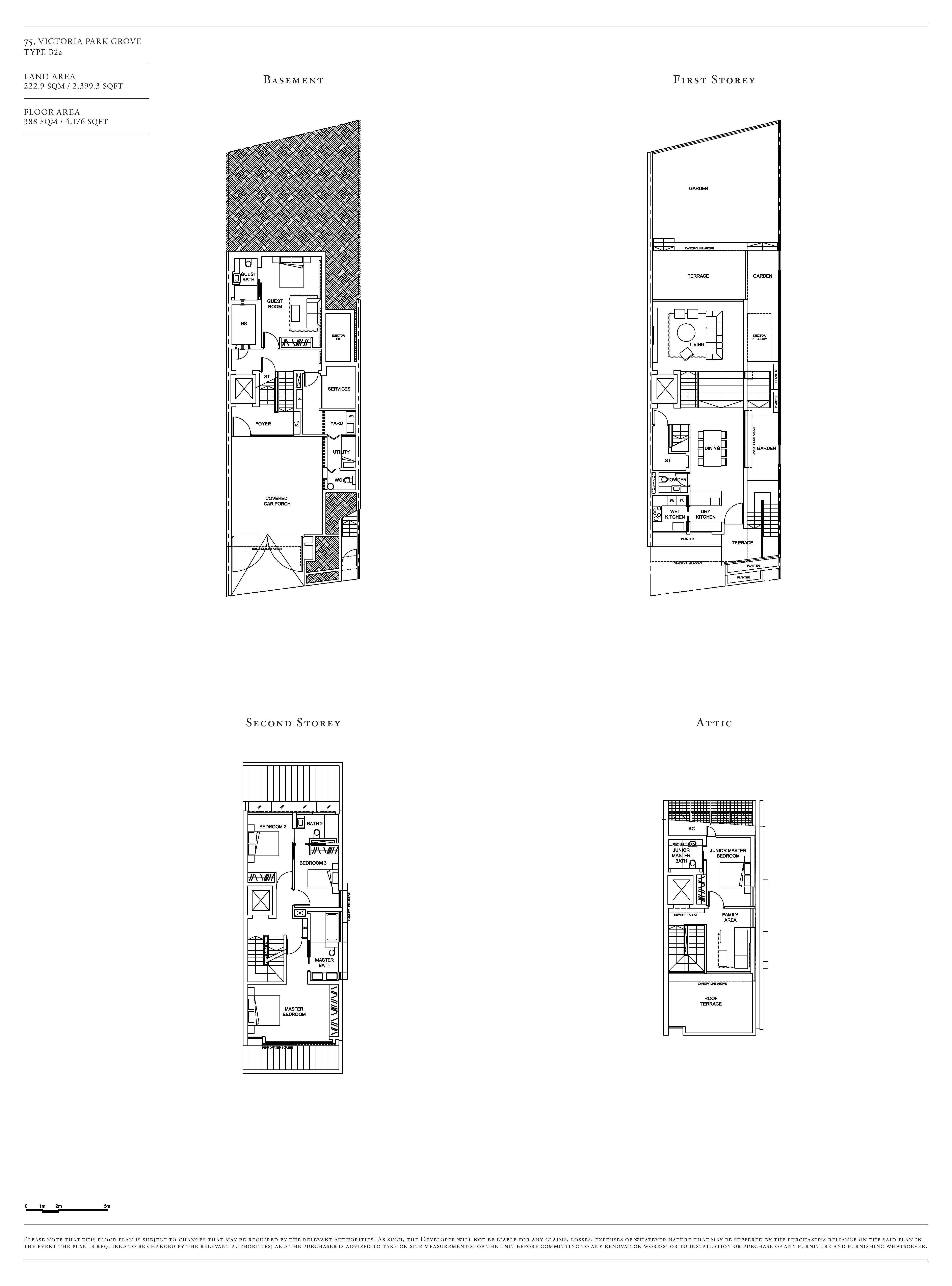 Victoria Park Villas House 75 Type B2a Floor Plans