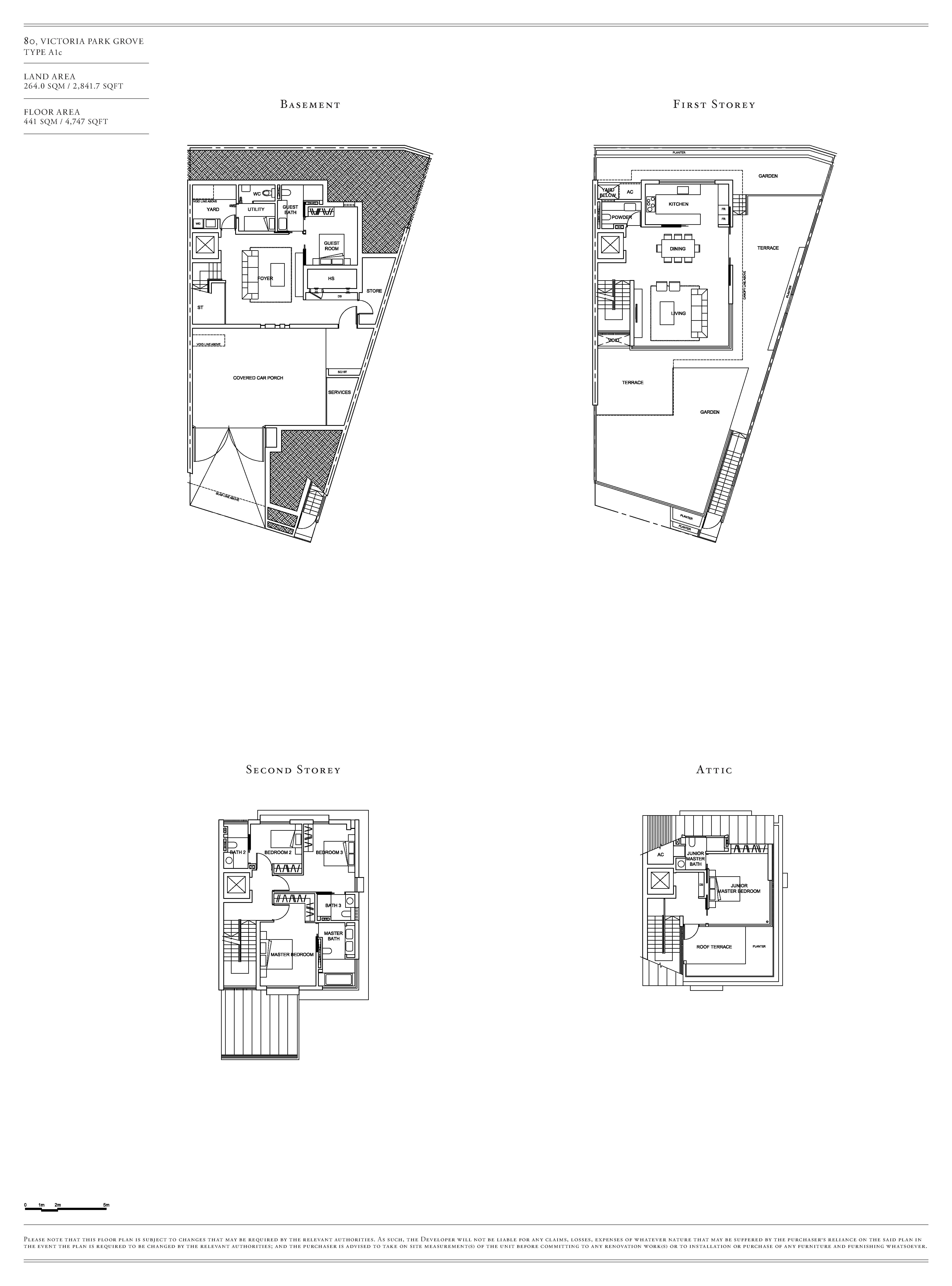 Victoria Park Villas House 80 Type A1c Floor Plans