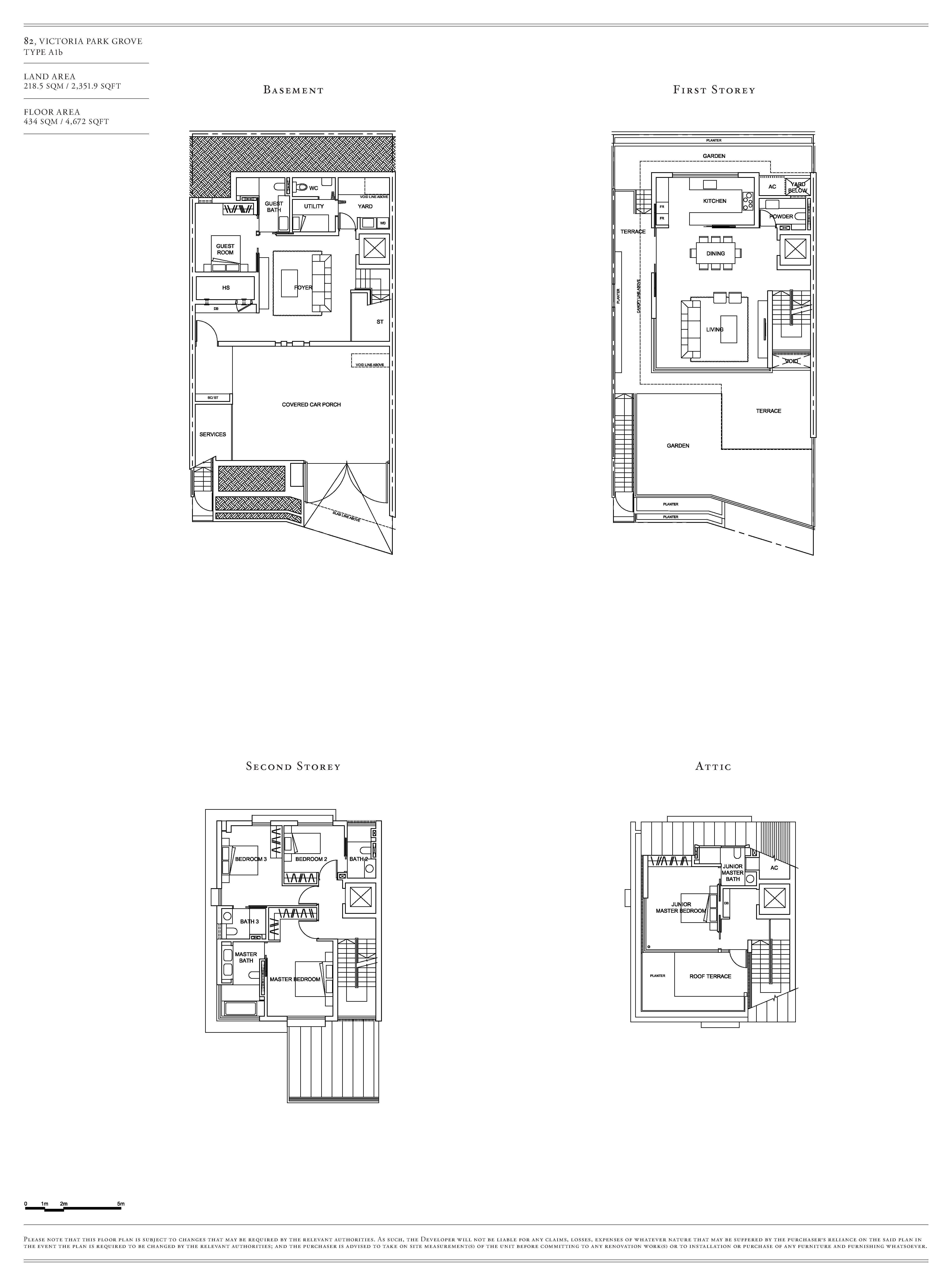 Victoria Park Villas House 82 Type A1b Floor Plans