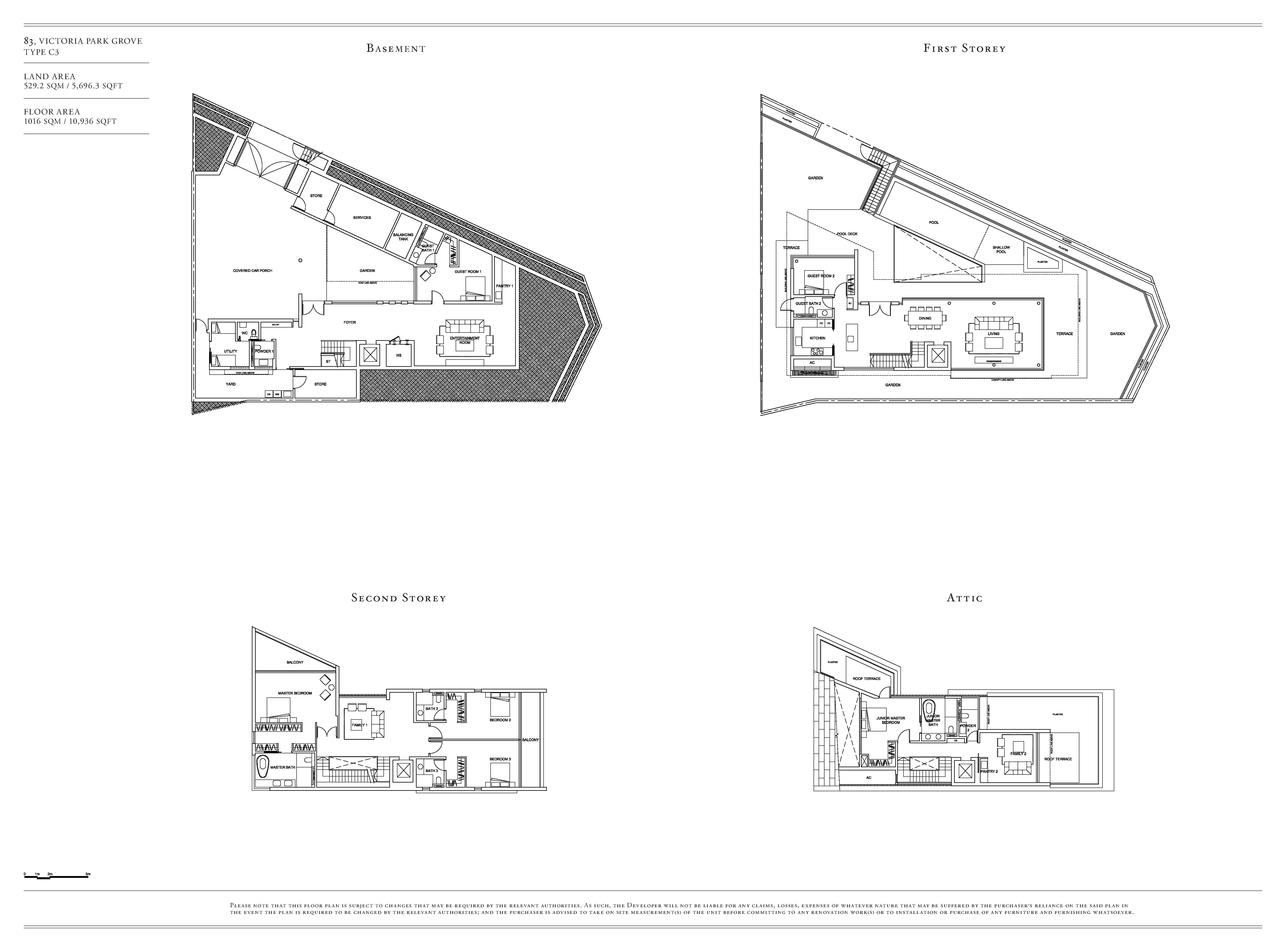 Victoria Park Villas House 83 Type C3 Floor Plans