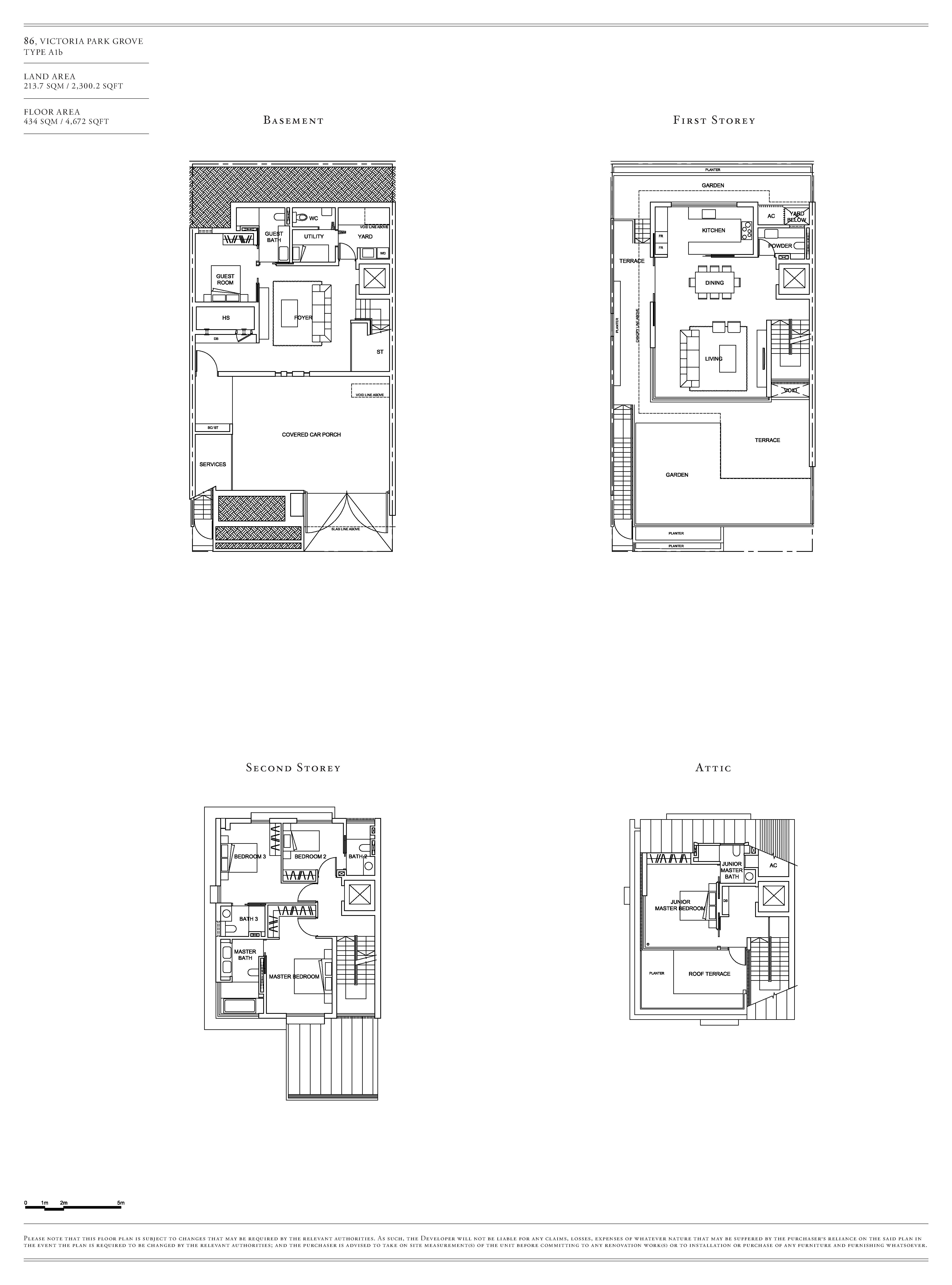 Victoria Park Villas House 86 Type A1b Floor Plans