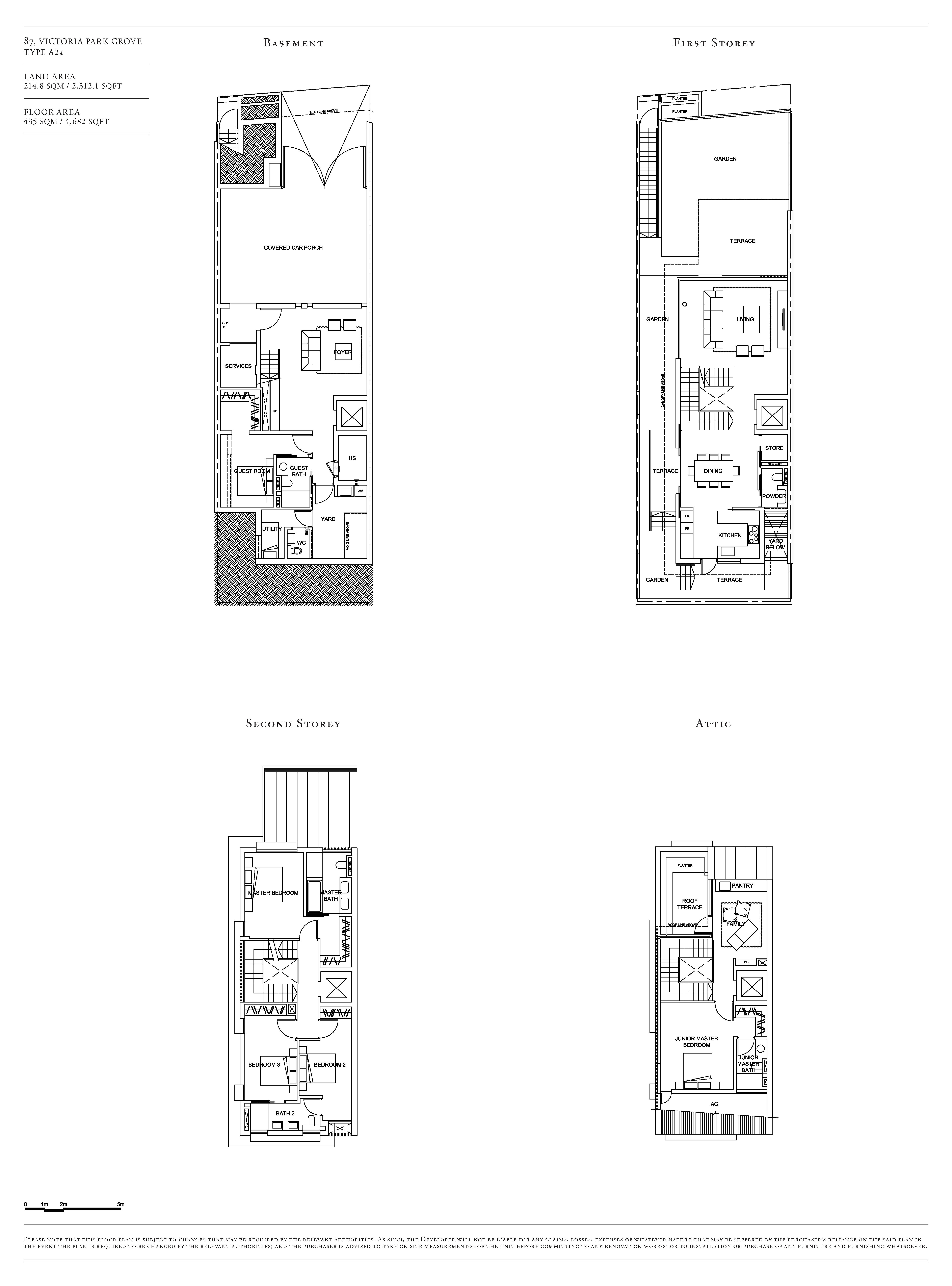 Victoria Park Villas House 87 Type A2a Floor Plans