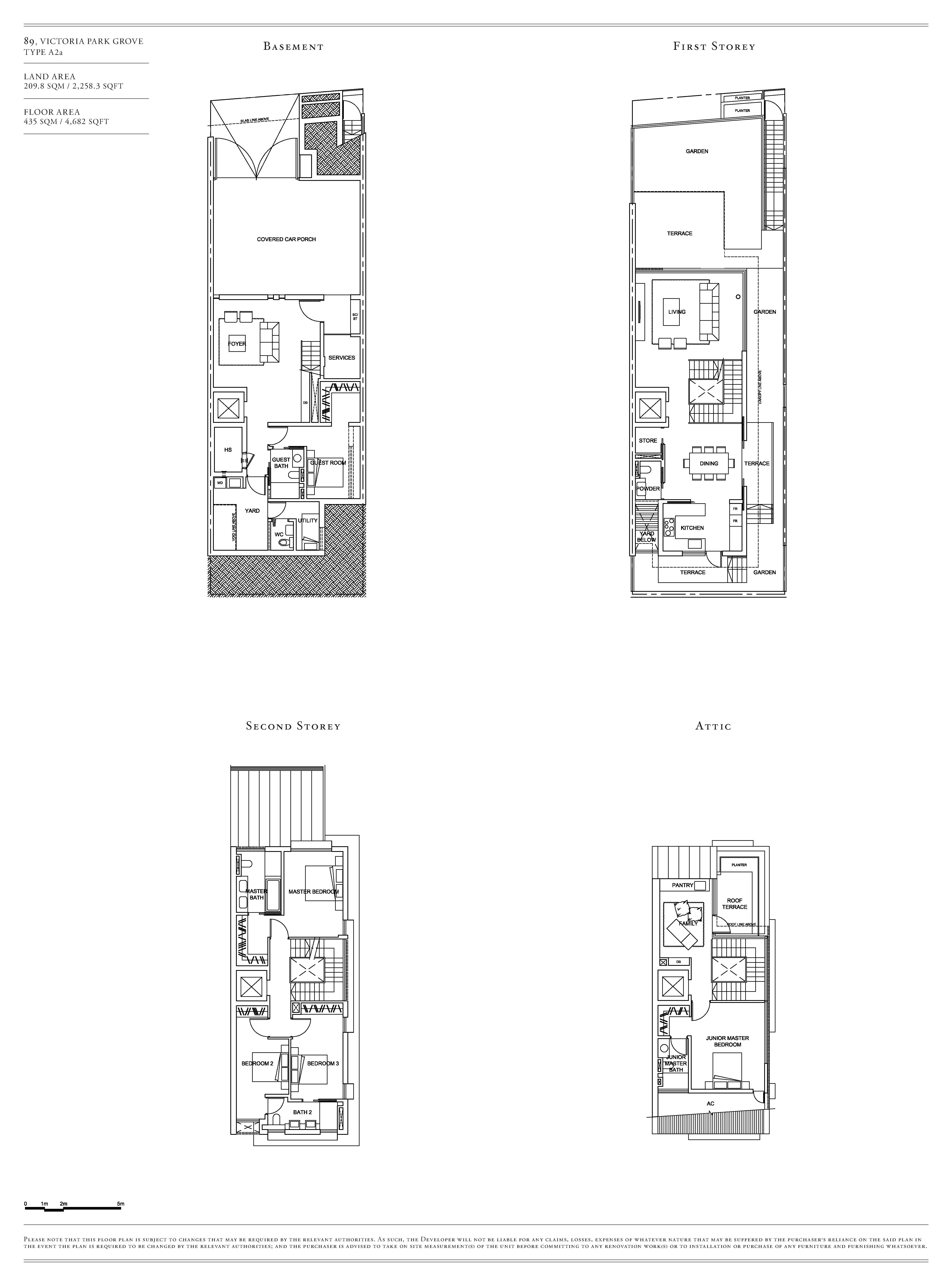 Victoria Park Villas House 89 Type A2a Floor Plans