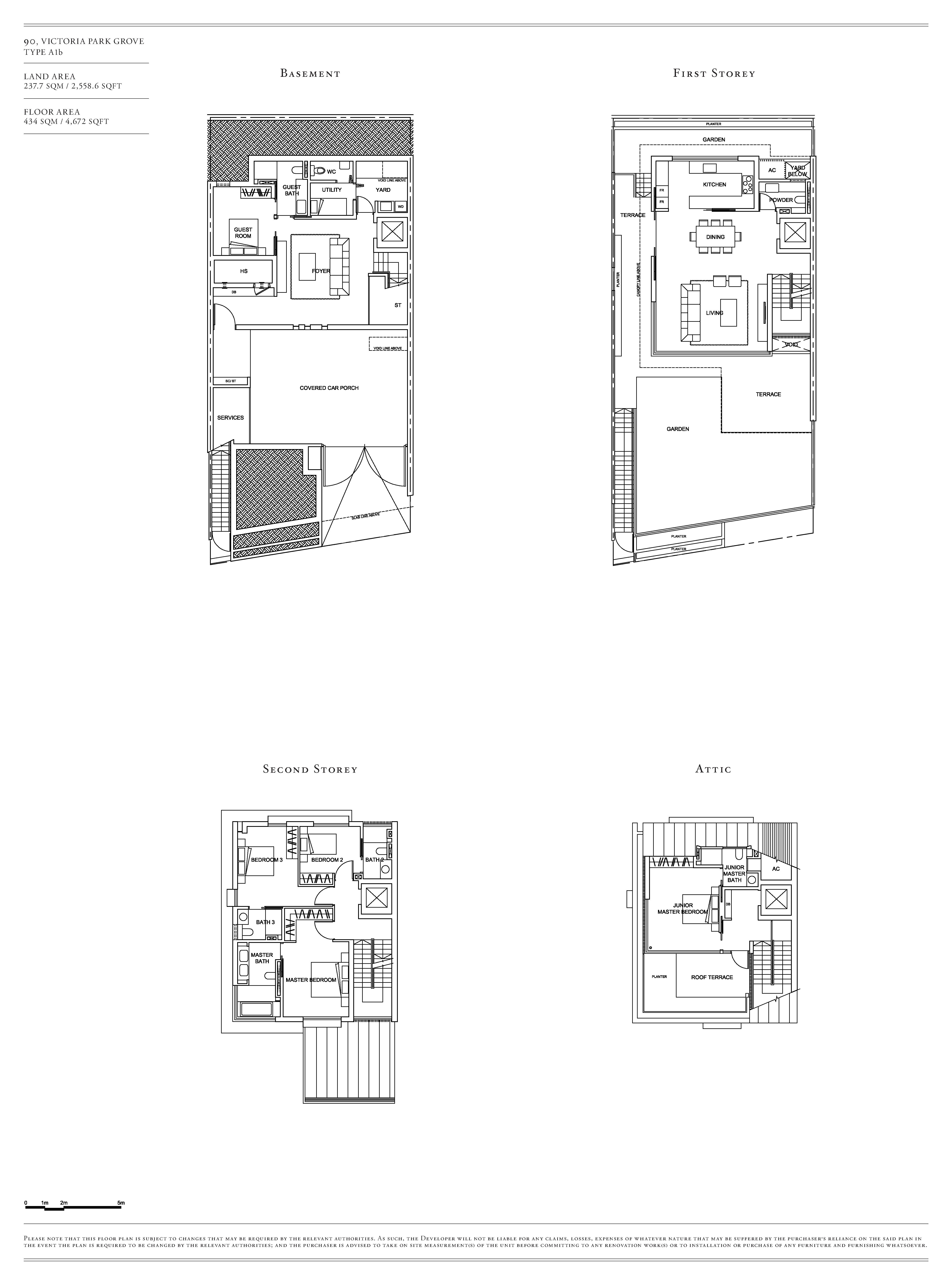 Victoria Park Villas House 90 Type A1b Floor Plans