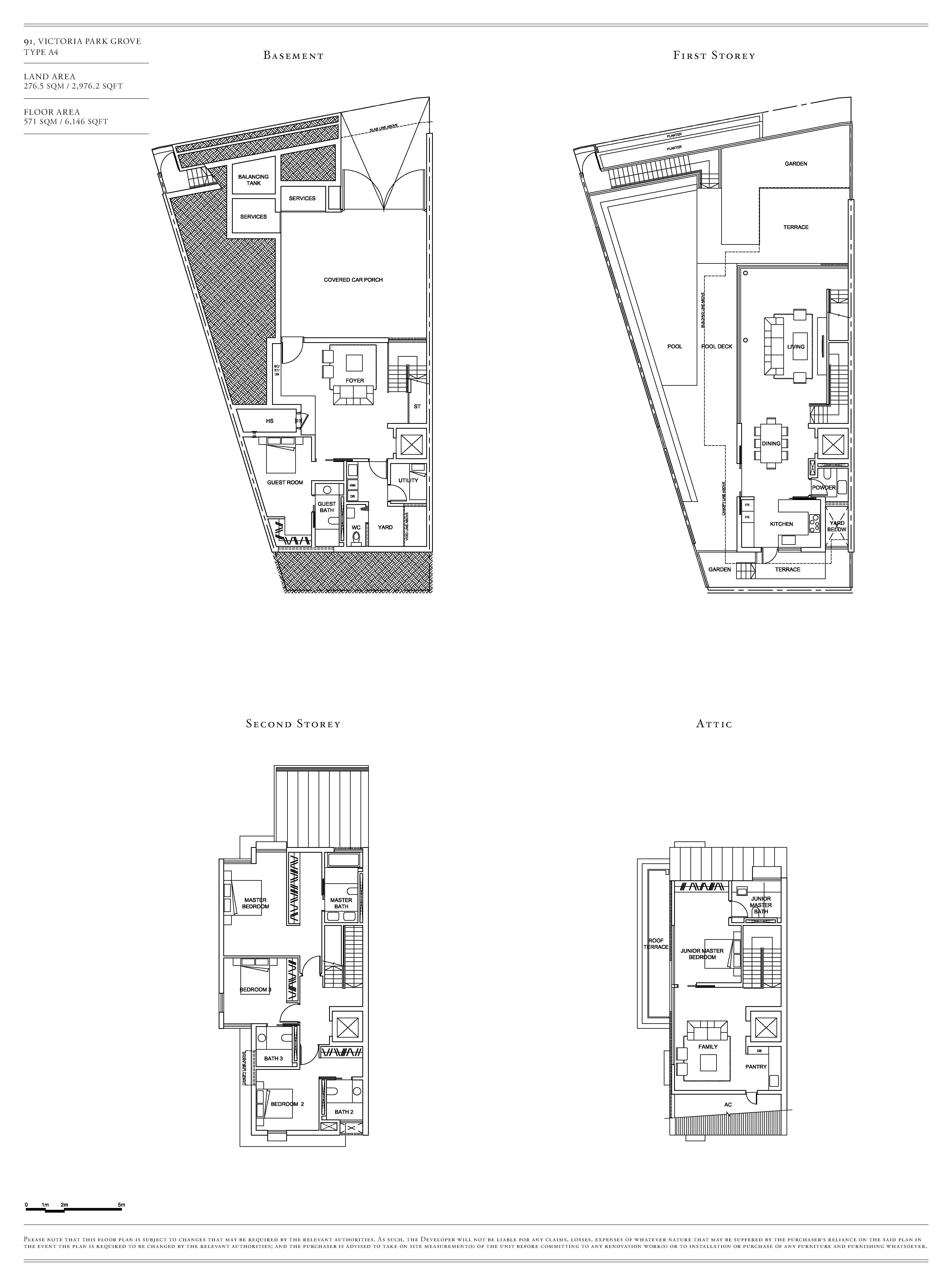 Victoria Park Villas House 91 Type A4 Floor Plans