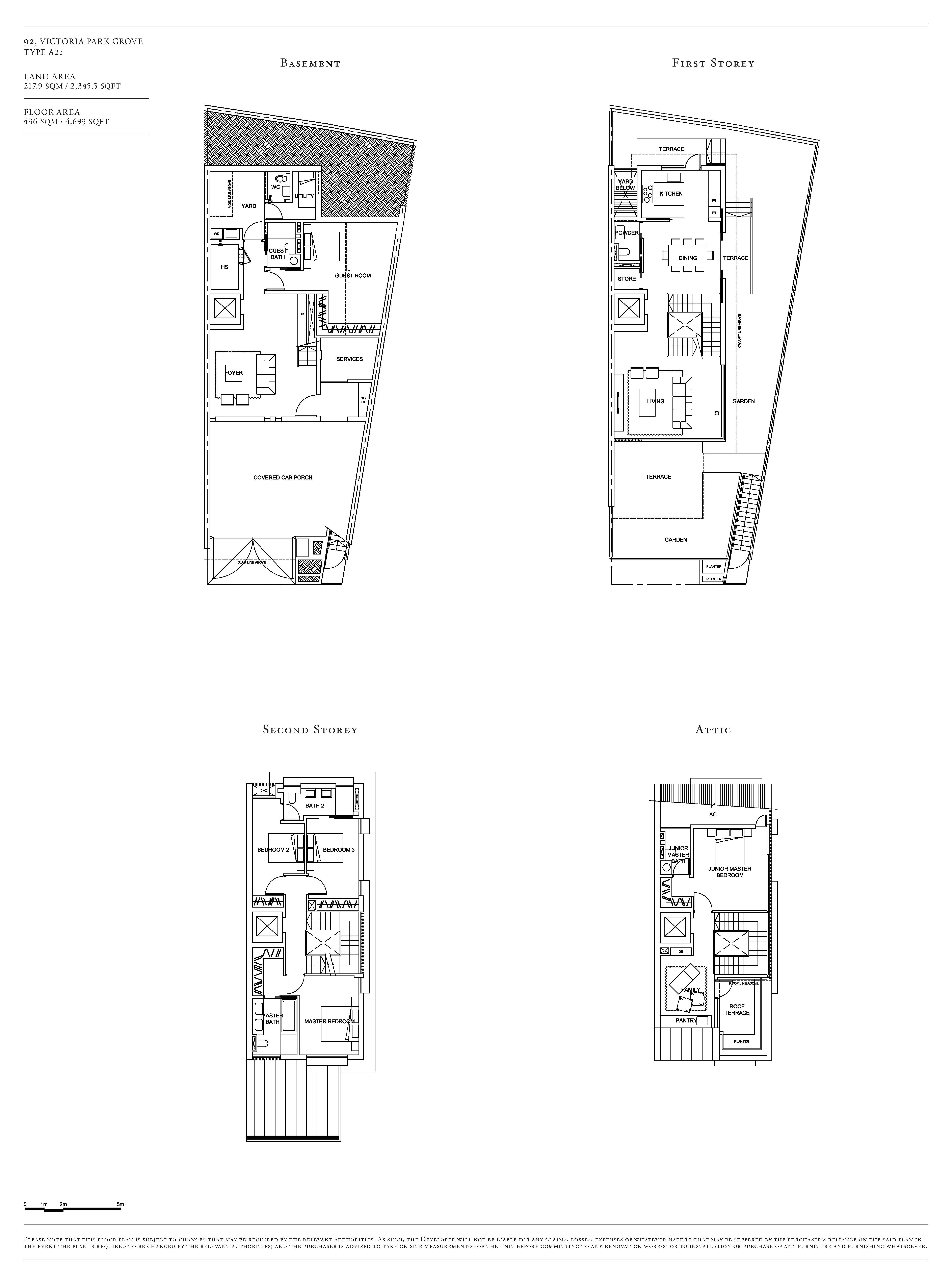 Victoria Park Villas House 92 Type A2c Floor Plans
