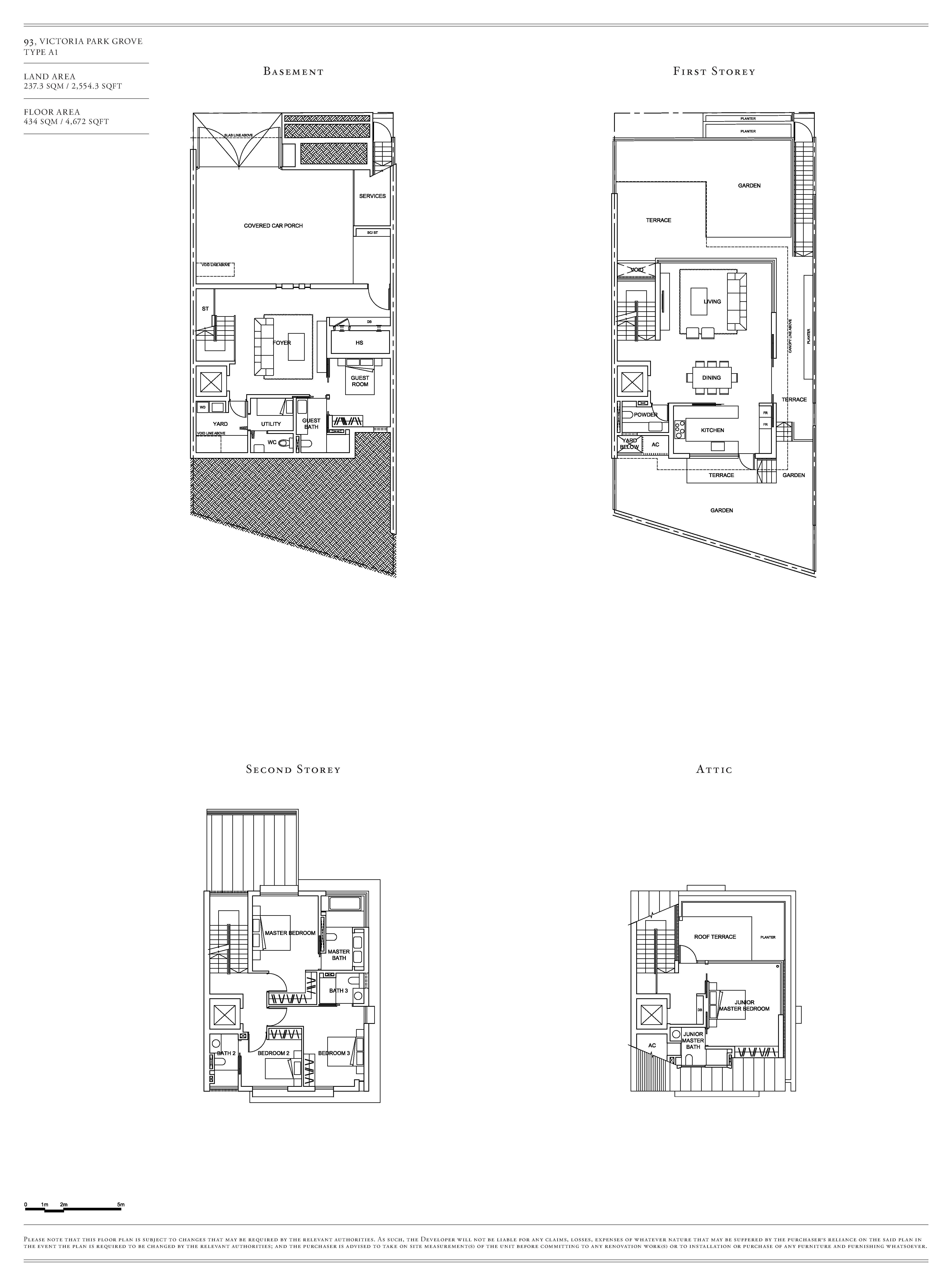 Victoria Park Villas House 93 Type A1 Floor Plans