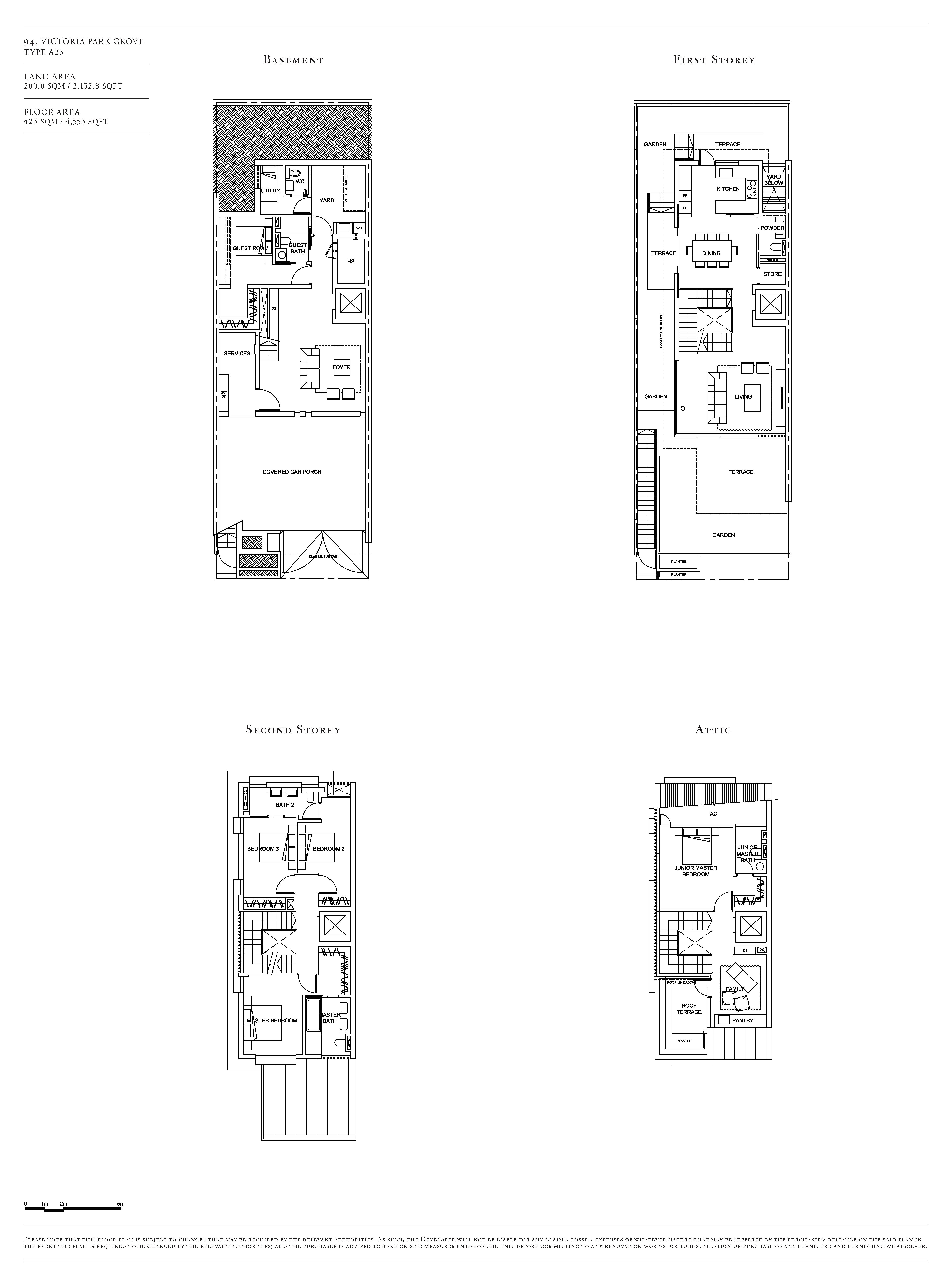 Victoria Park Villas House 94 Type A2b Floor Plans