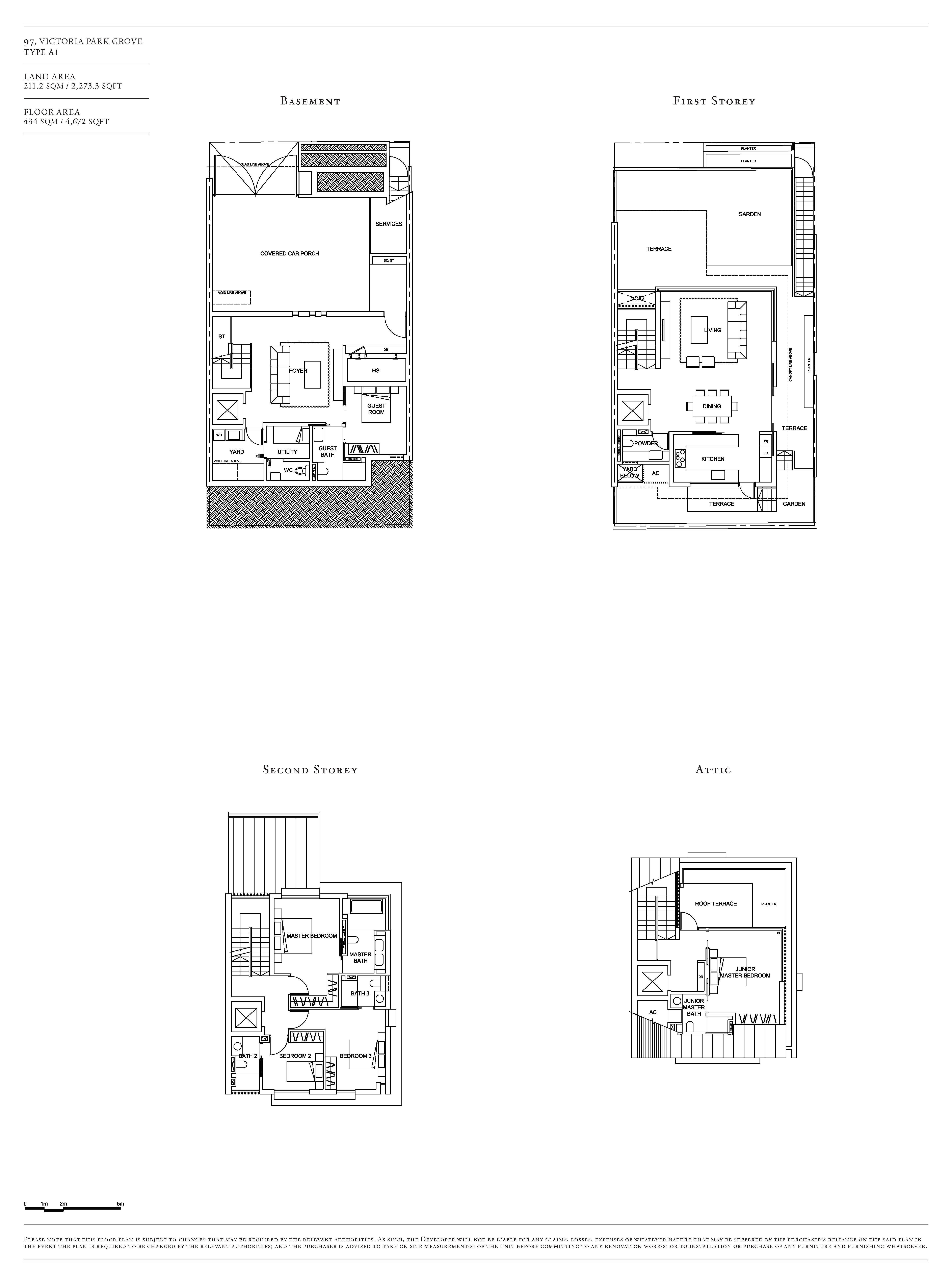 Victoria Park Villas House 97 Type A1 Floor Plans