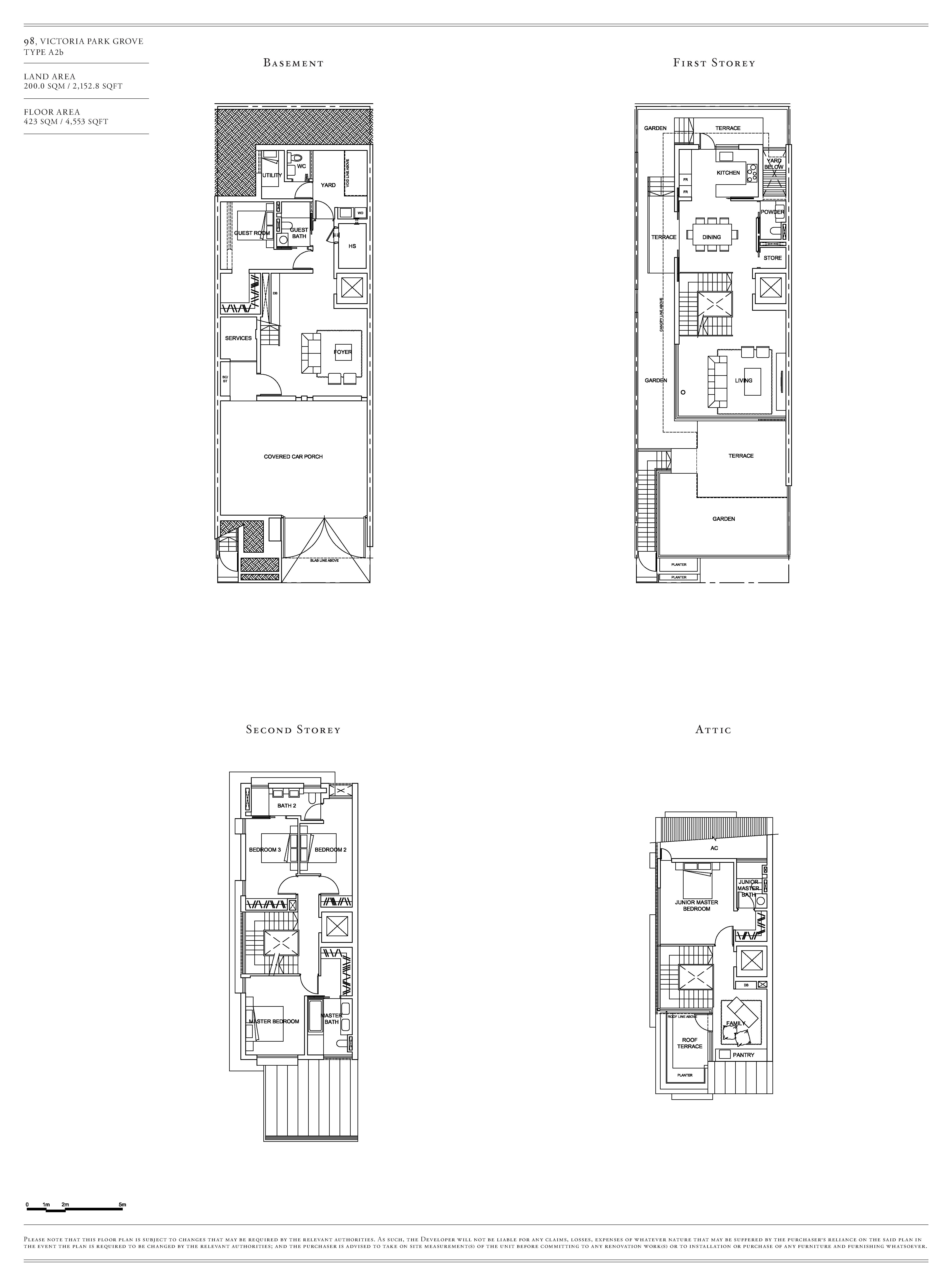 Victoria Park Villas House 98 Type A2b Floor Plans
