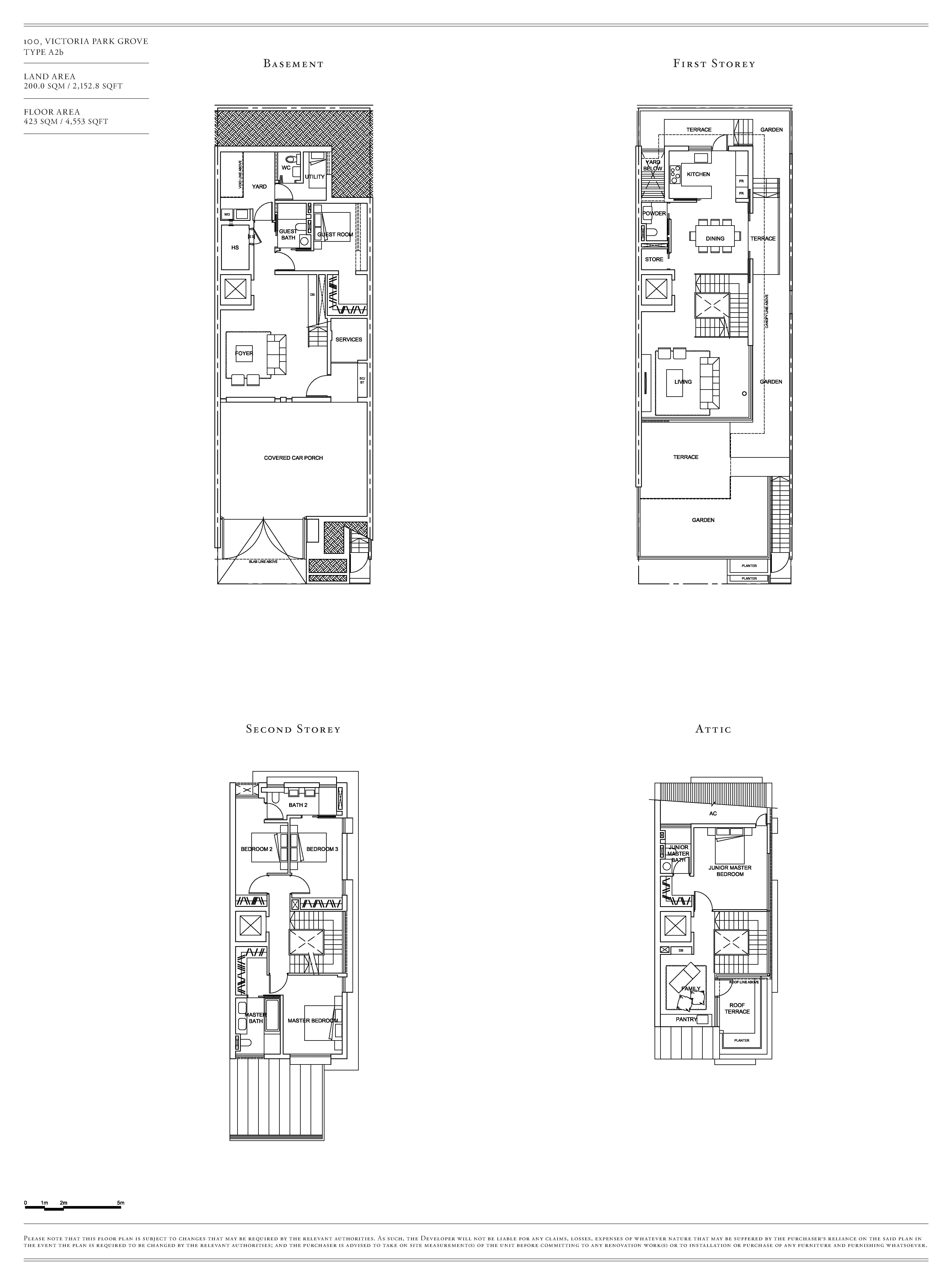 Victoria Park Villas House 100 Type A2b Floor Plans