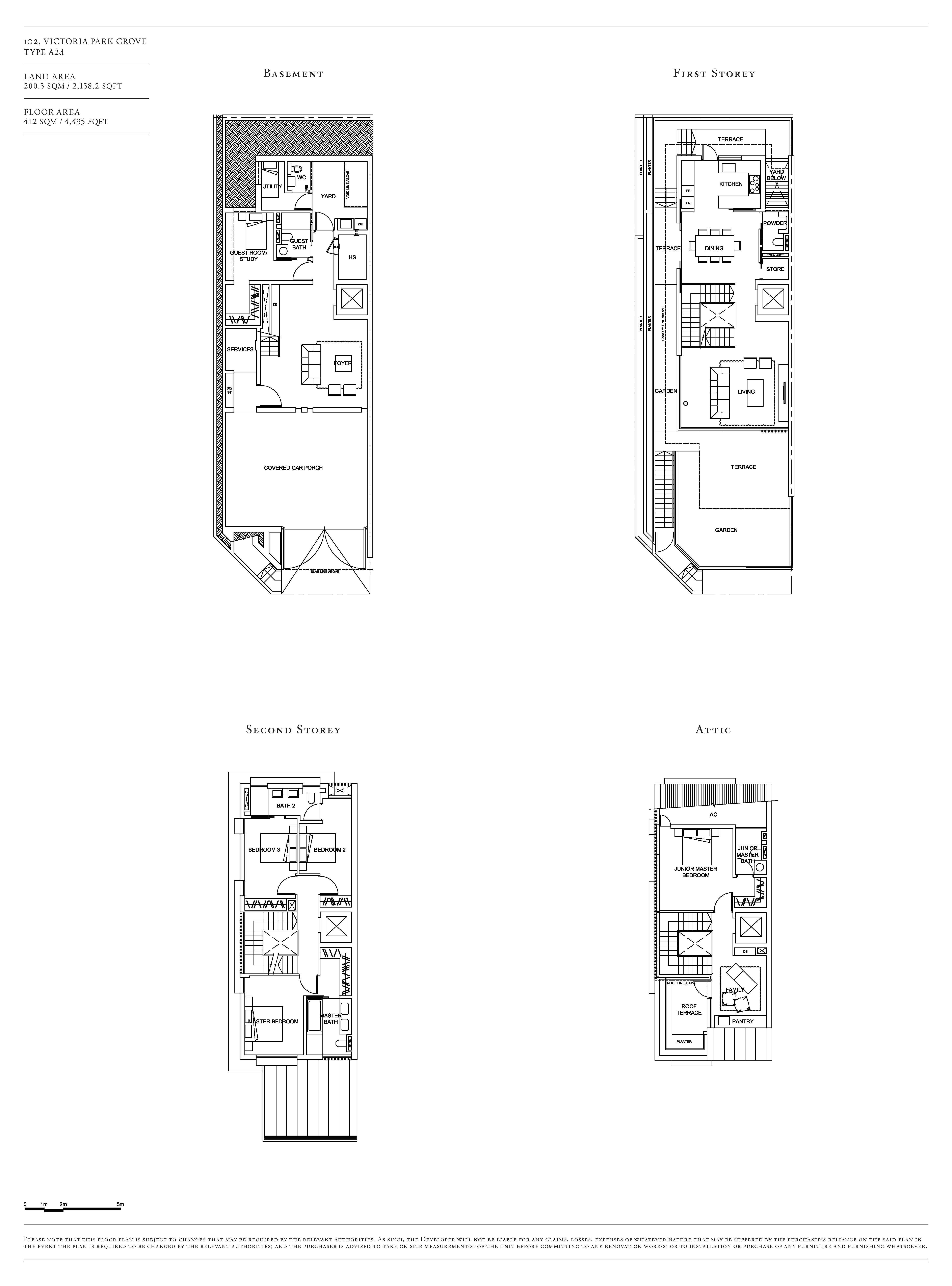 Victoria Park Villas House 102 Type A2d Floor Plans