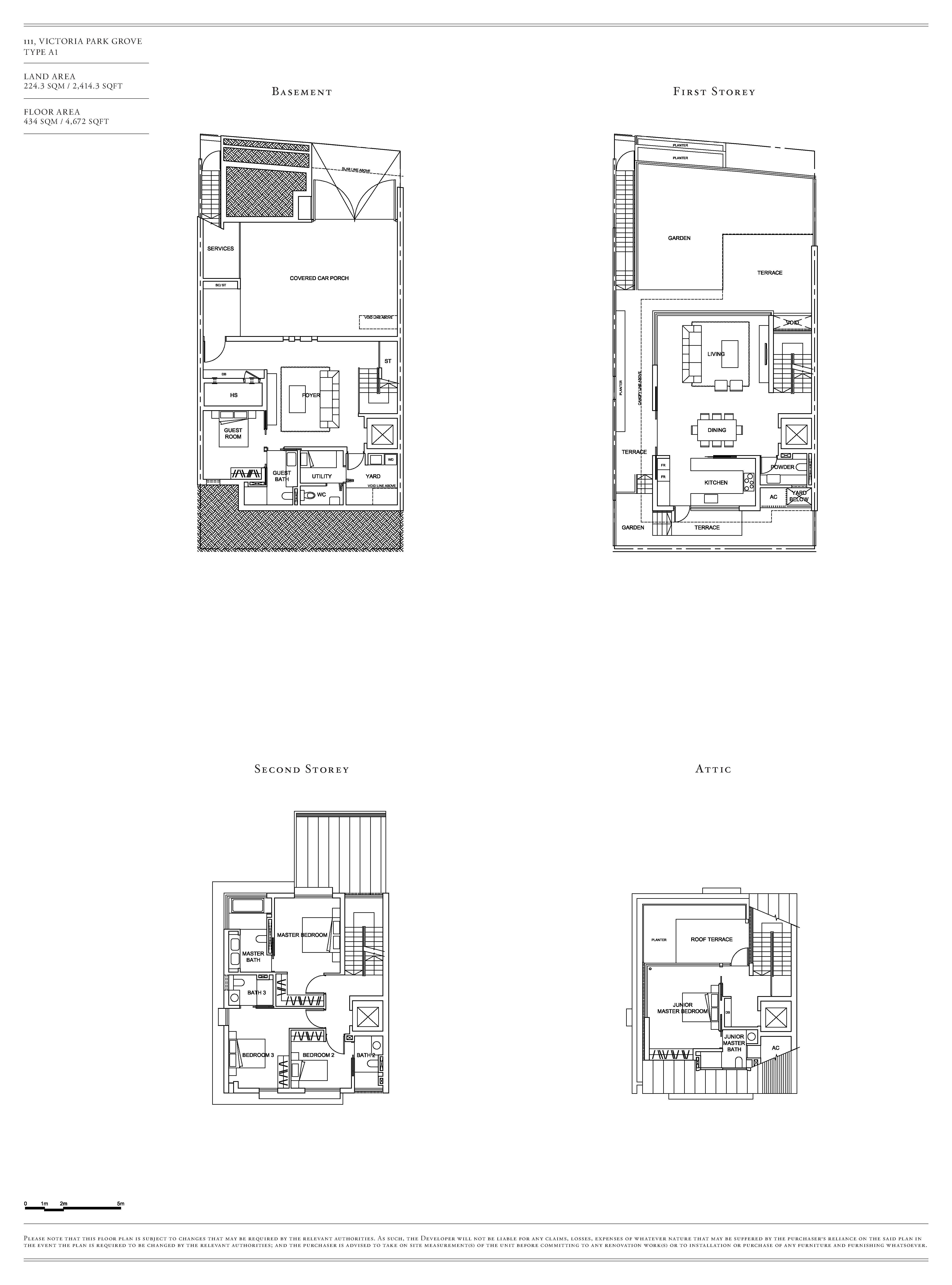 Victoria Park Villas House 111 Type A1 Floor Plans